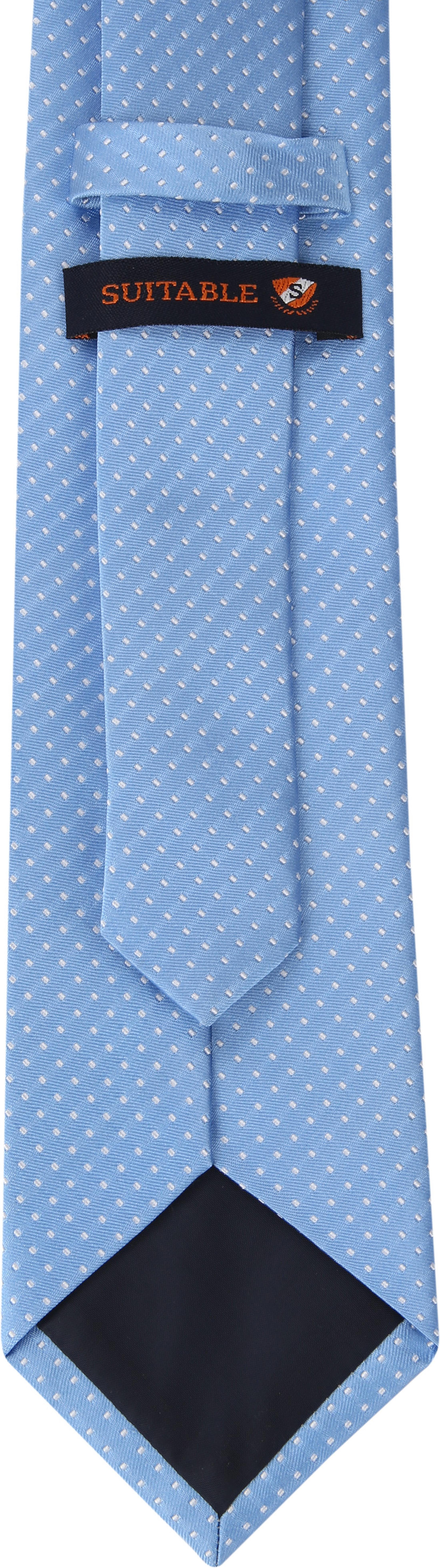 Suitable Krawatte Seide Blau F91-7 foto 2