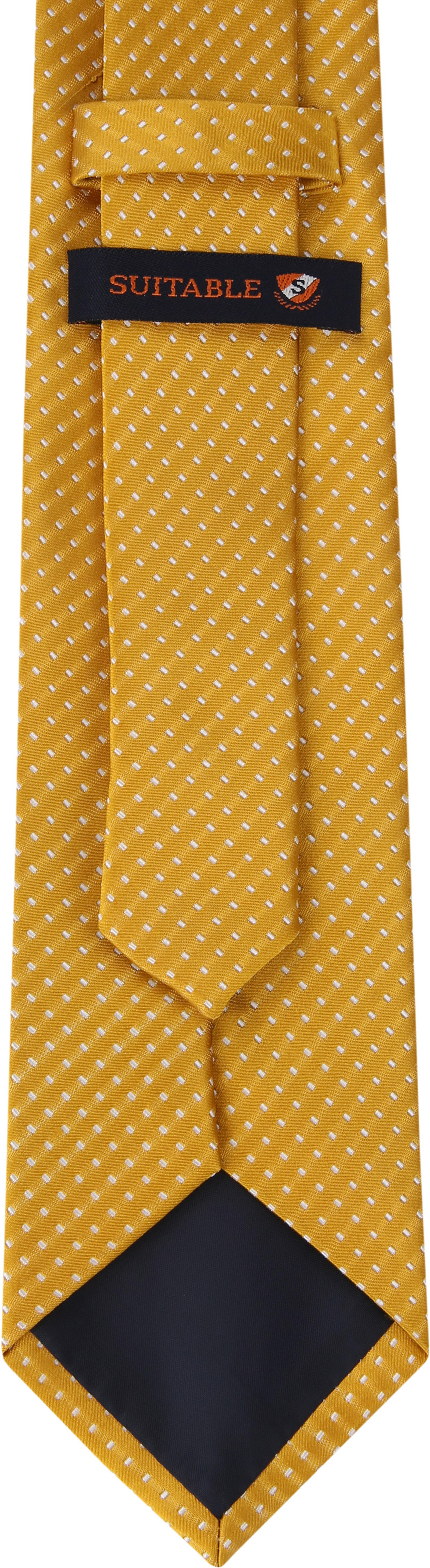 Suitable Krawatte Seide Gelb F91-4 foto 2