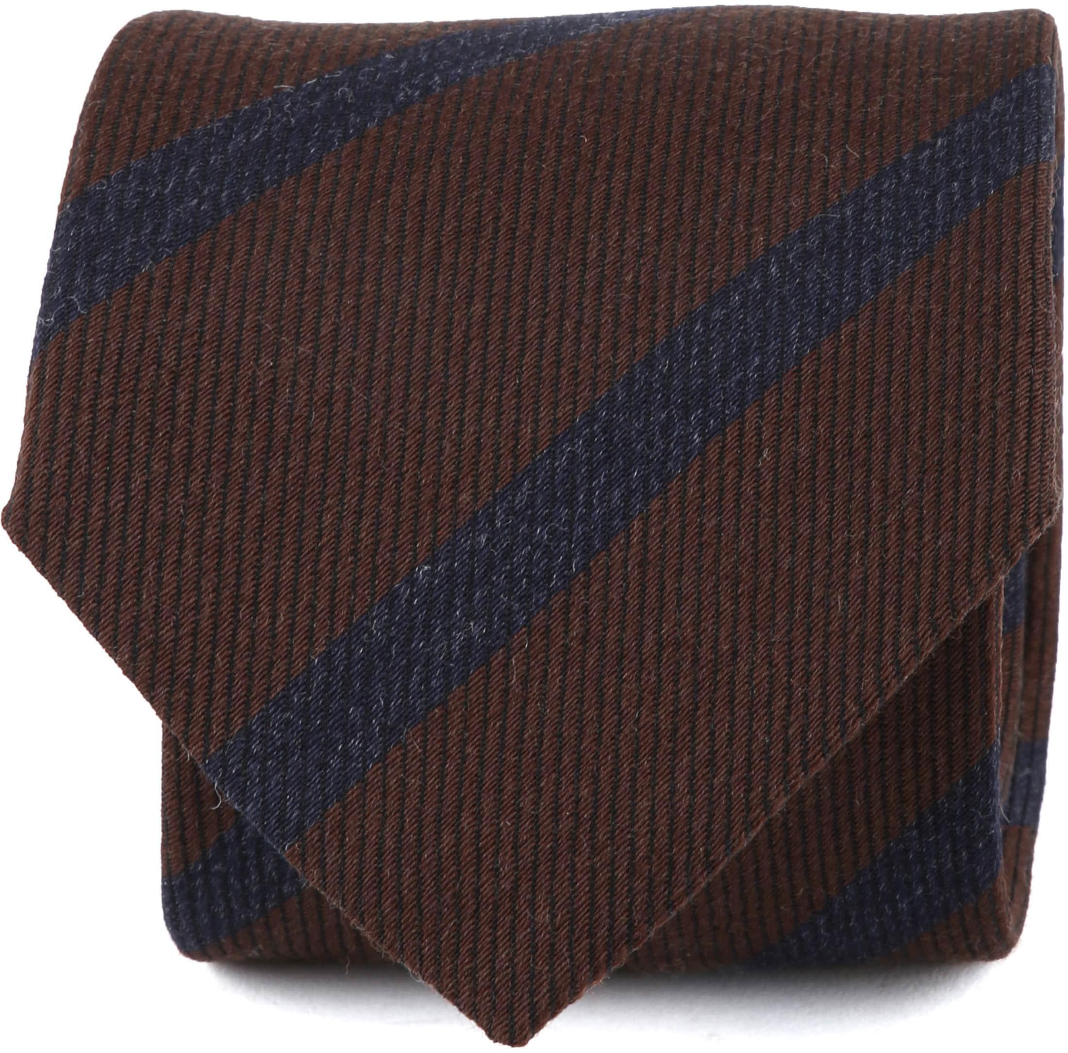Suitable Krawatte Streifen Braun Foto 0