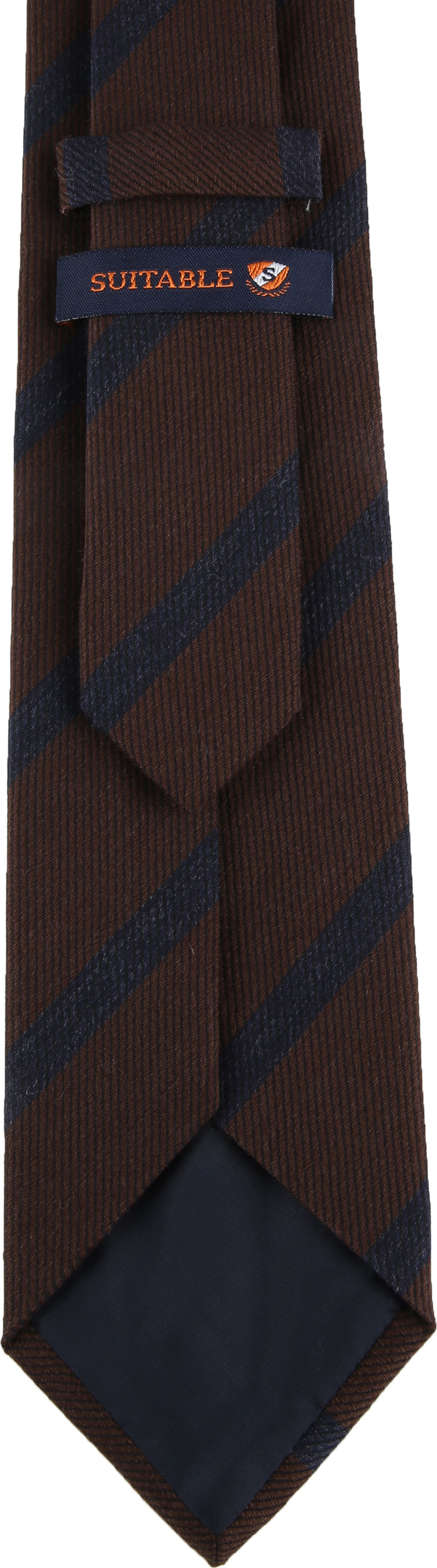 Suitable Krawatte Streifen Braun Foto 2