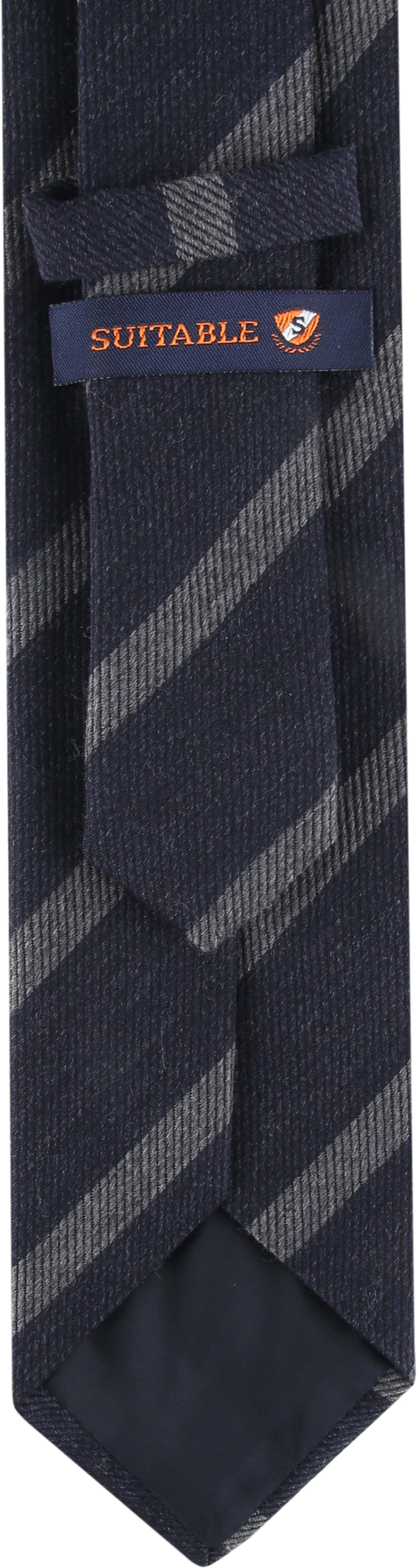 Suitable Krawatte Streifen Dunkelgrau Foto 2