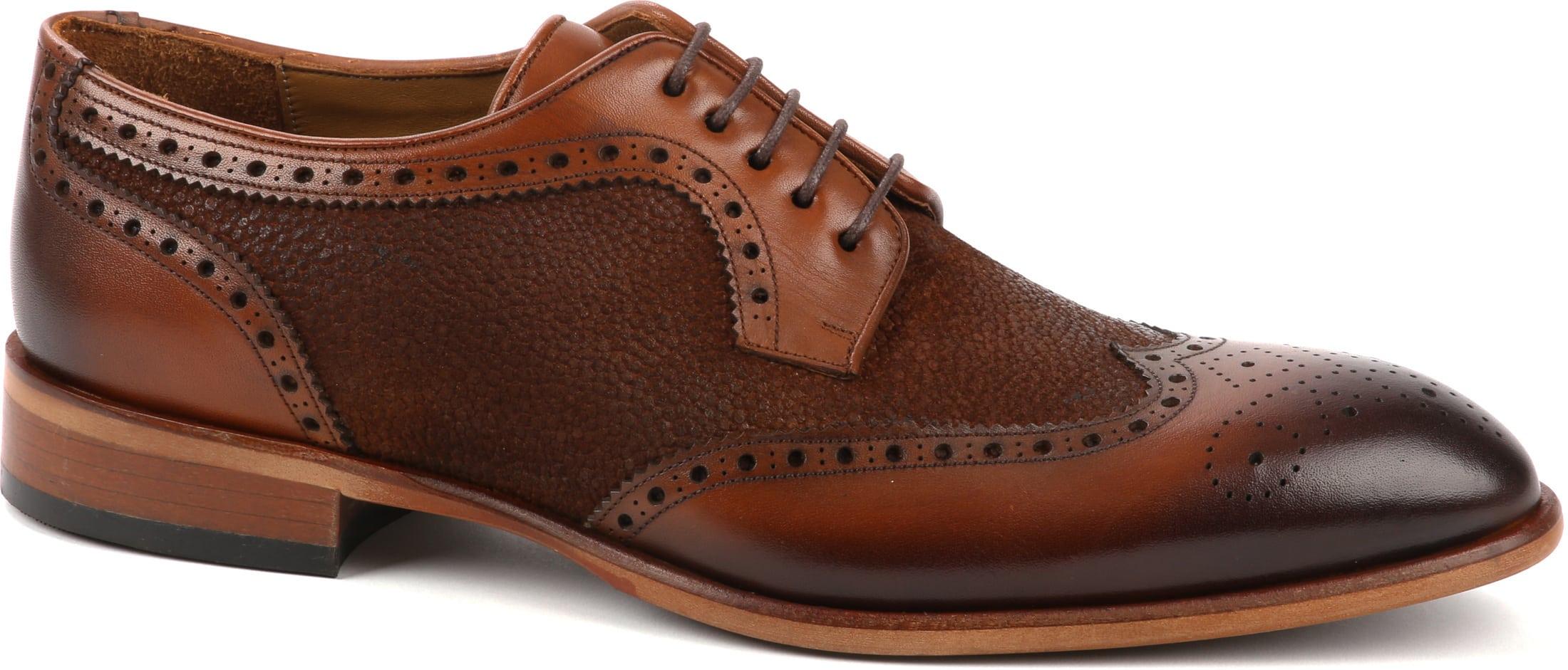 Suitable Leather Shoe Dessin Cognac foto 0