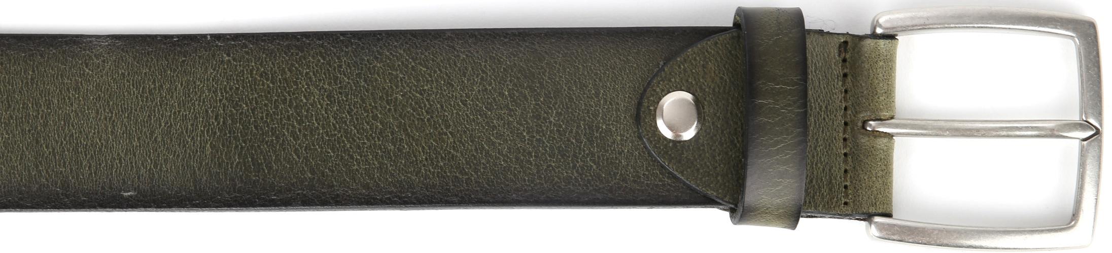 Suitable Leder Gürtel Grün Washed foto 1