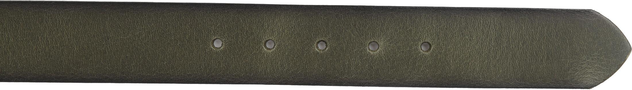 Suitable Leder Gürtel Grün Washed foto 2