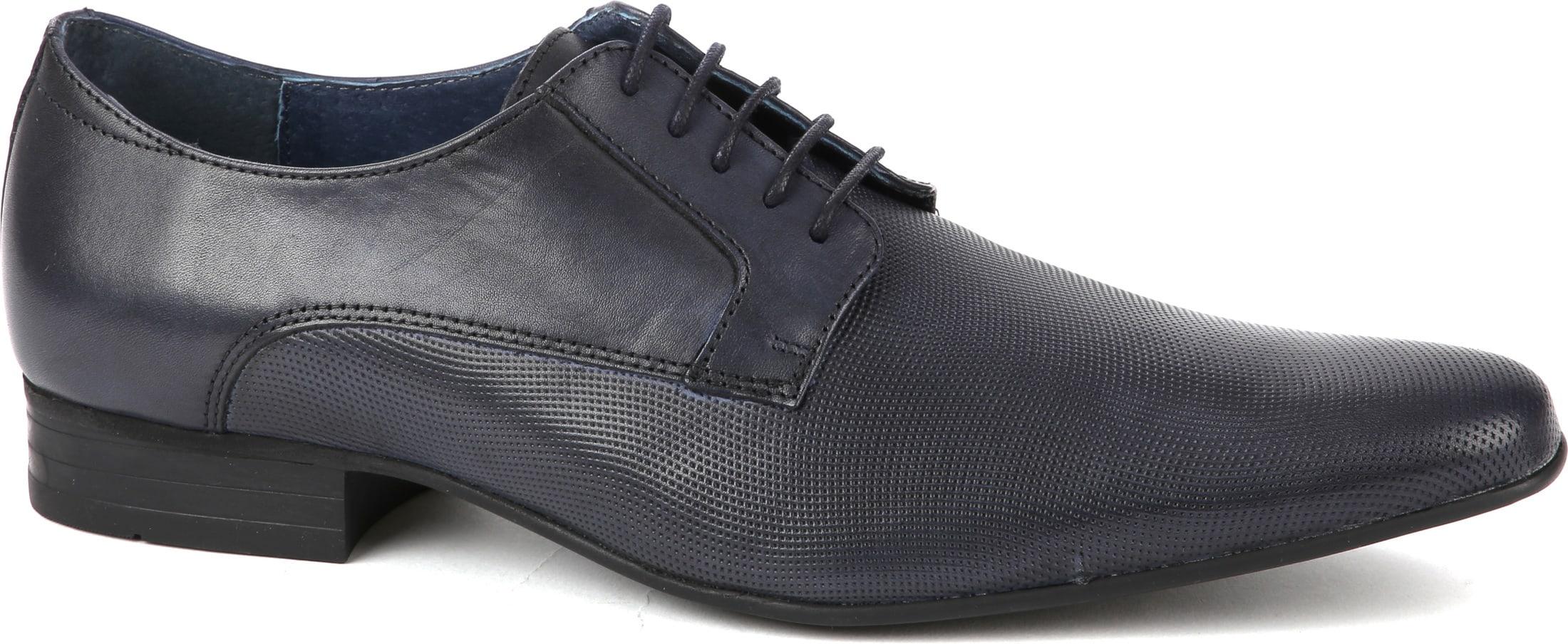 Suitable Leder Schuh Derby Navy Foto 0