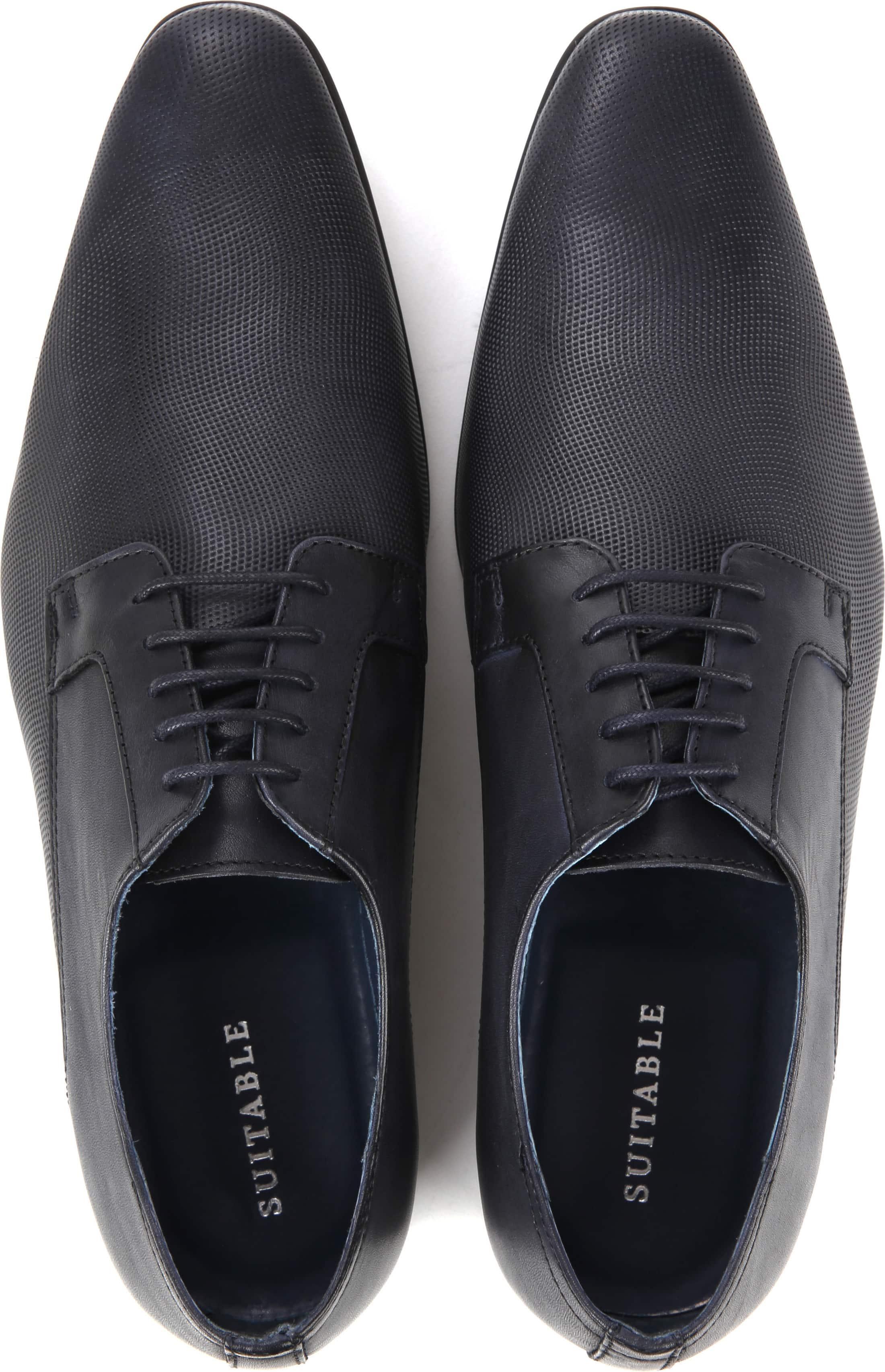 Suitable Leder Schuh Derby Navy Foto 2