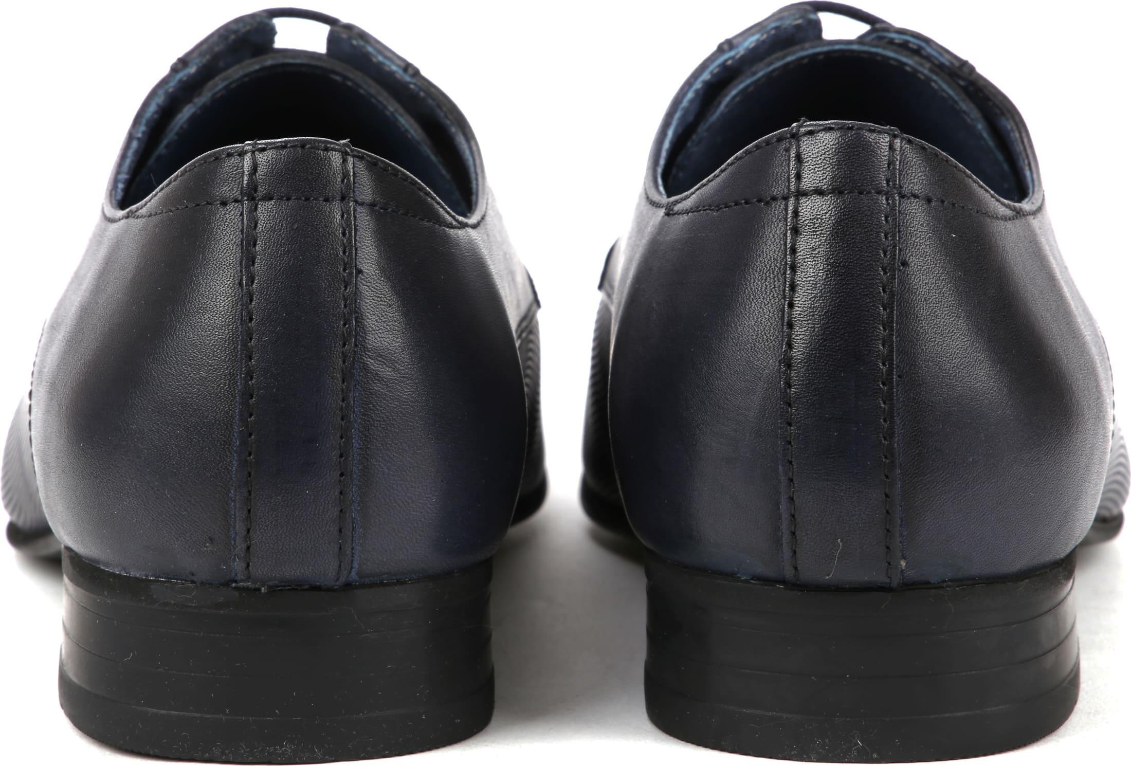 Suitable Leder Schuh Derby Navy Foto 3