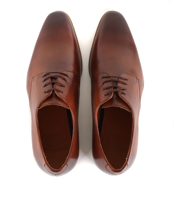 Chaussures Hommes Convenables En Cuir Cognac OZ0bhWMwyG