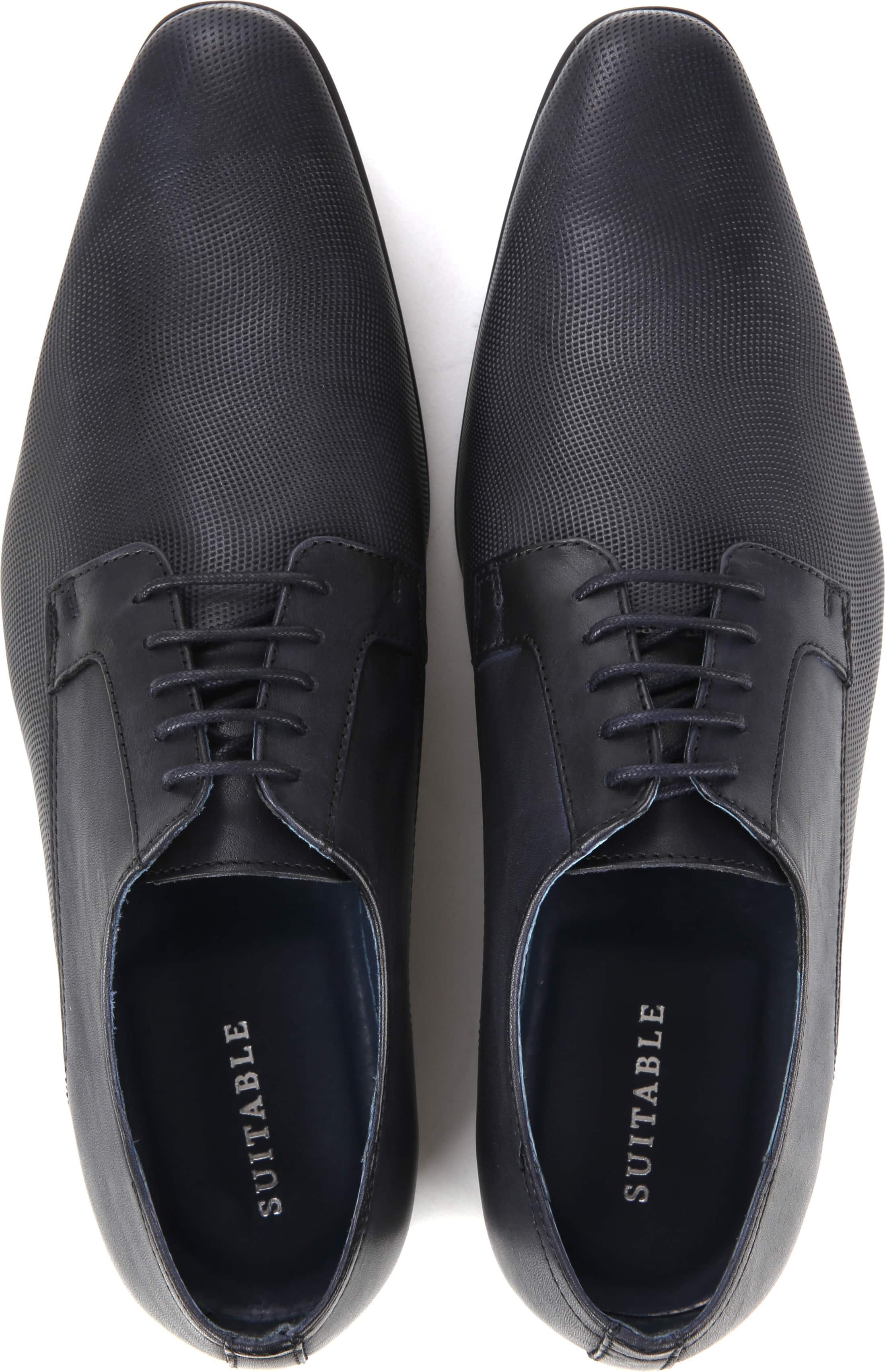 Suitable Leren Herenschoen Derby Navy foto 2