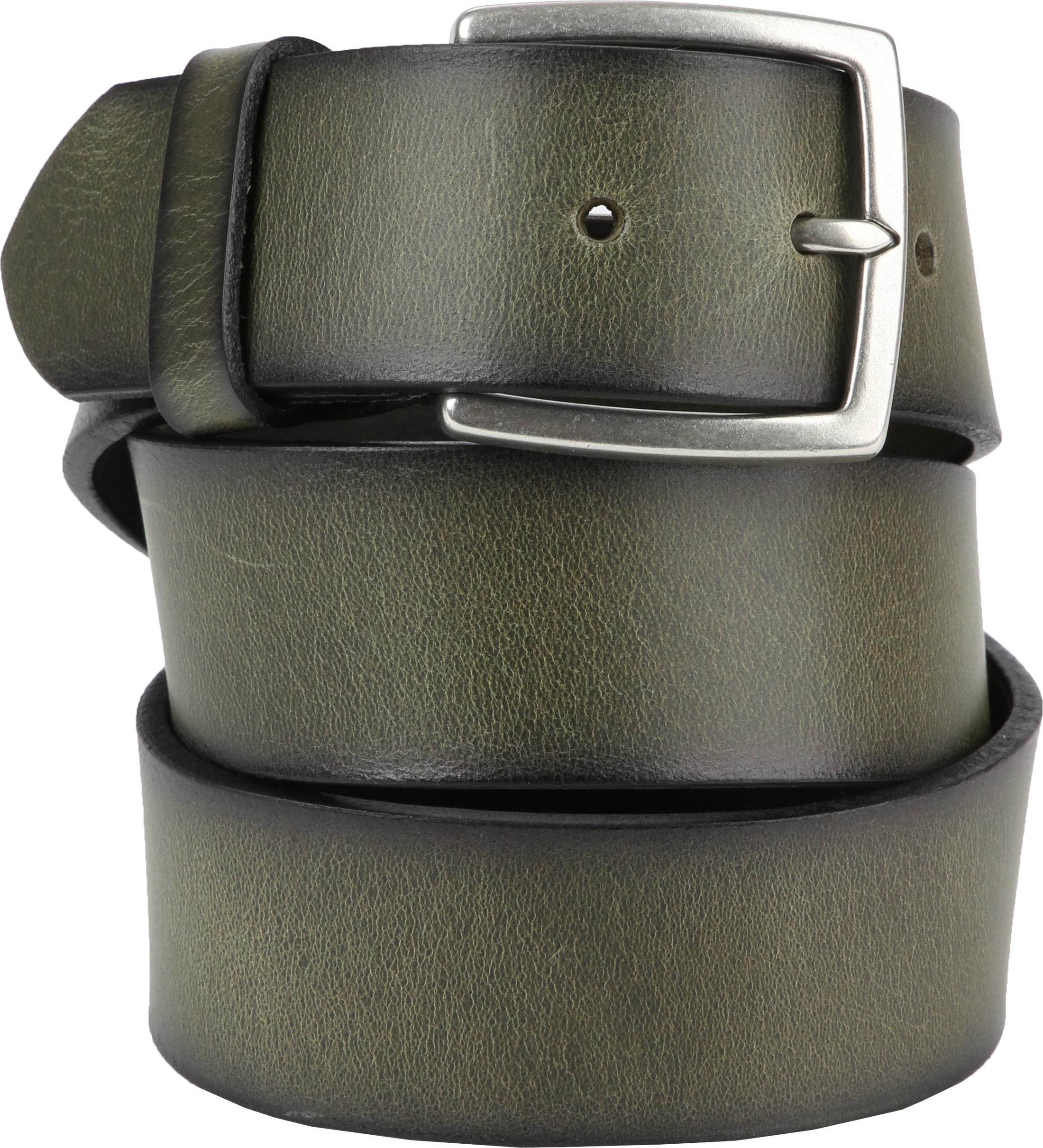 laatste mode beste selectie Discover Suitable Leren Riem Groen Washed 1100375 online bestellen ...