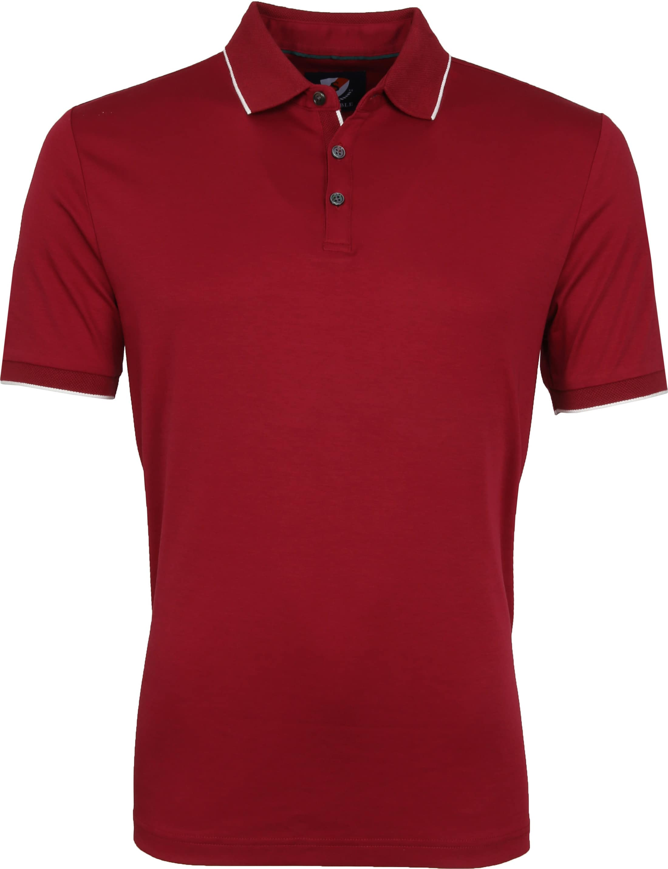 Suitable Liquid Poloshirt Burgund foto 0