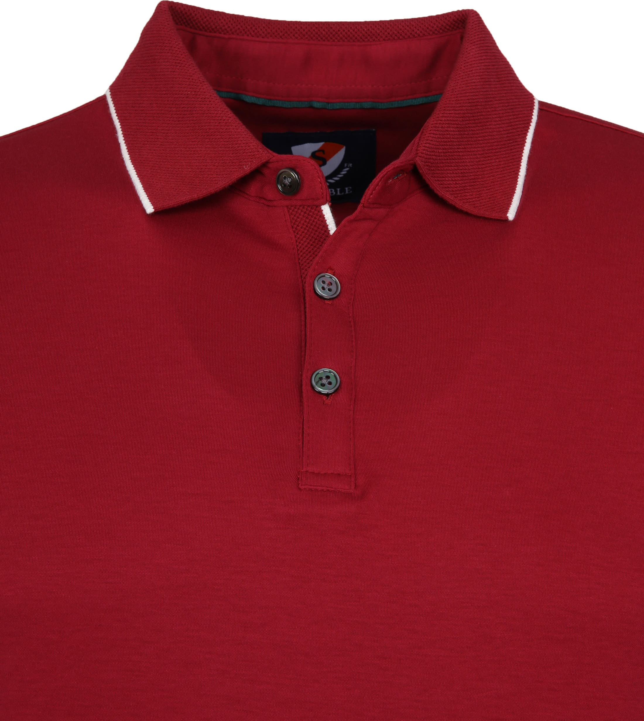 Suitable Liquid Poloshirt Burgund foto 1