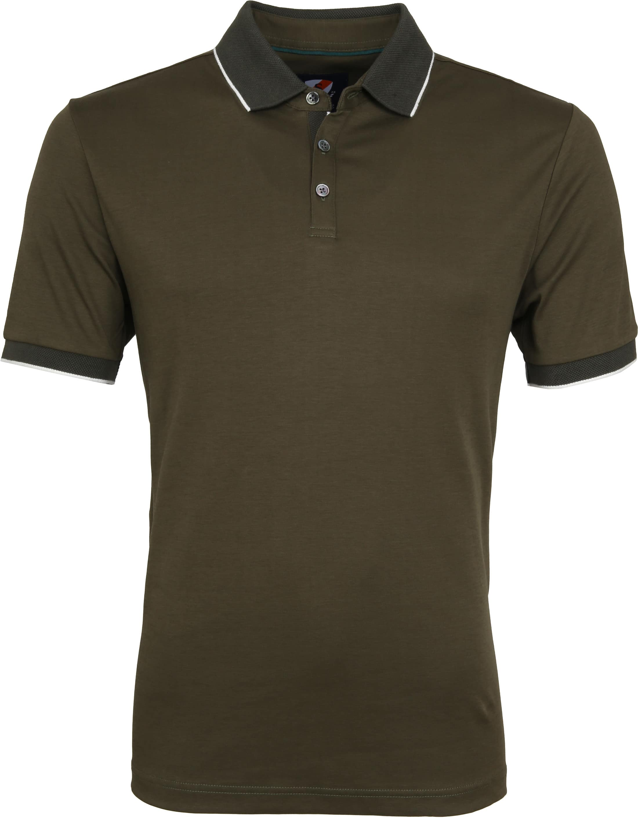 Suitable Liquid Poloshirt Olive Green foto 0