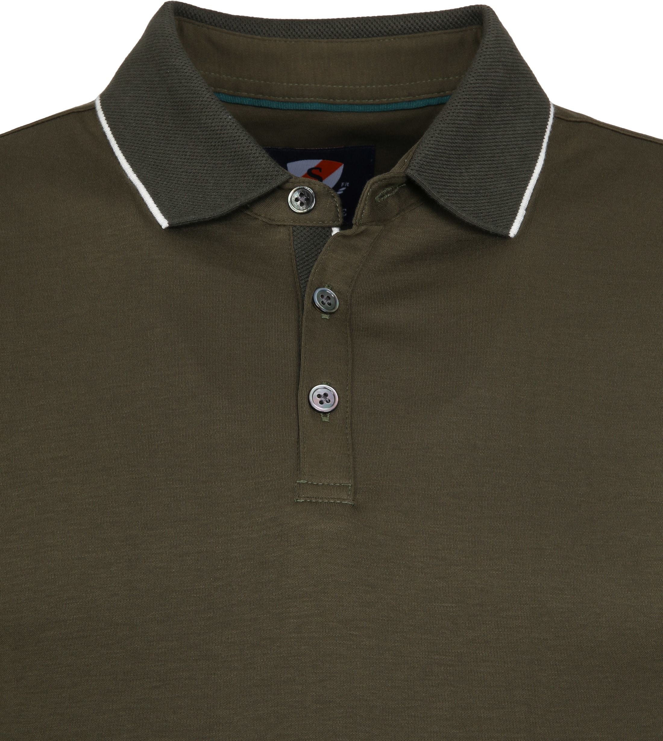 Suitable Liquid Poloshirt Olive Green foto 1