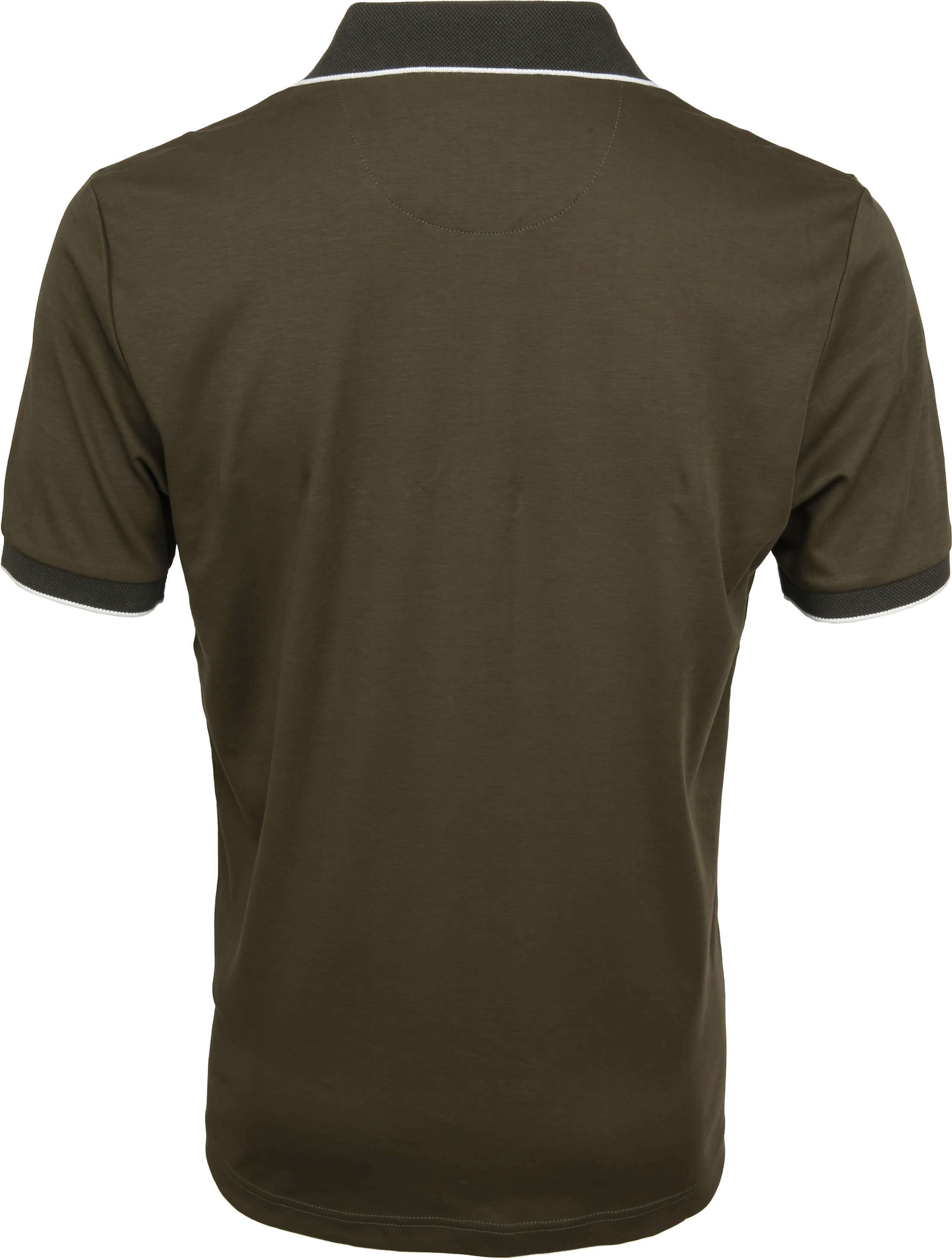 Suitable Liquid Poloshirt Olive Green foto 3