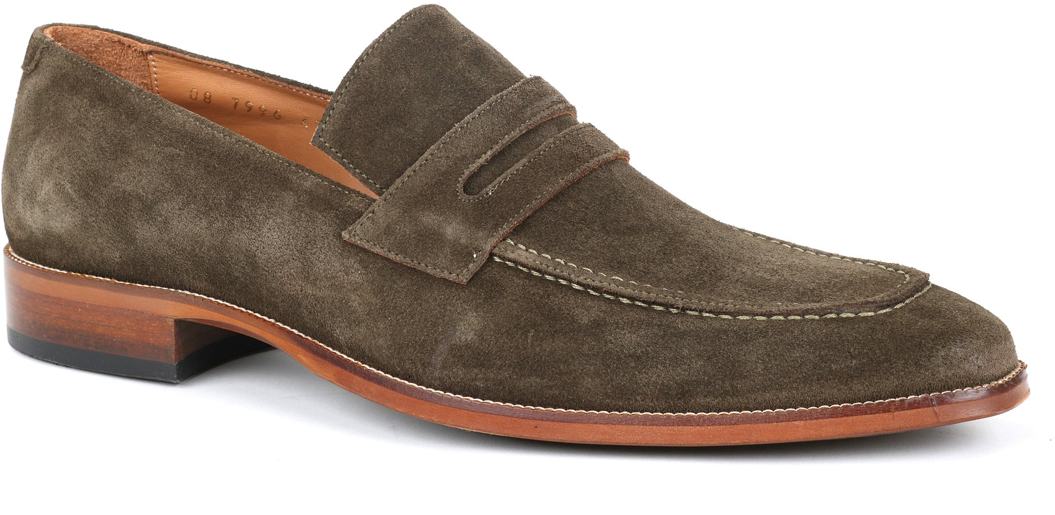 Suitable Loafer Suede Groen foto 0