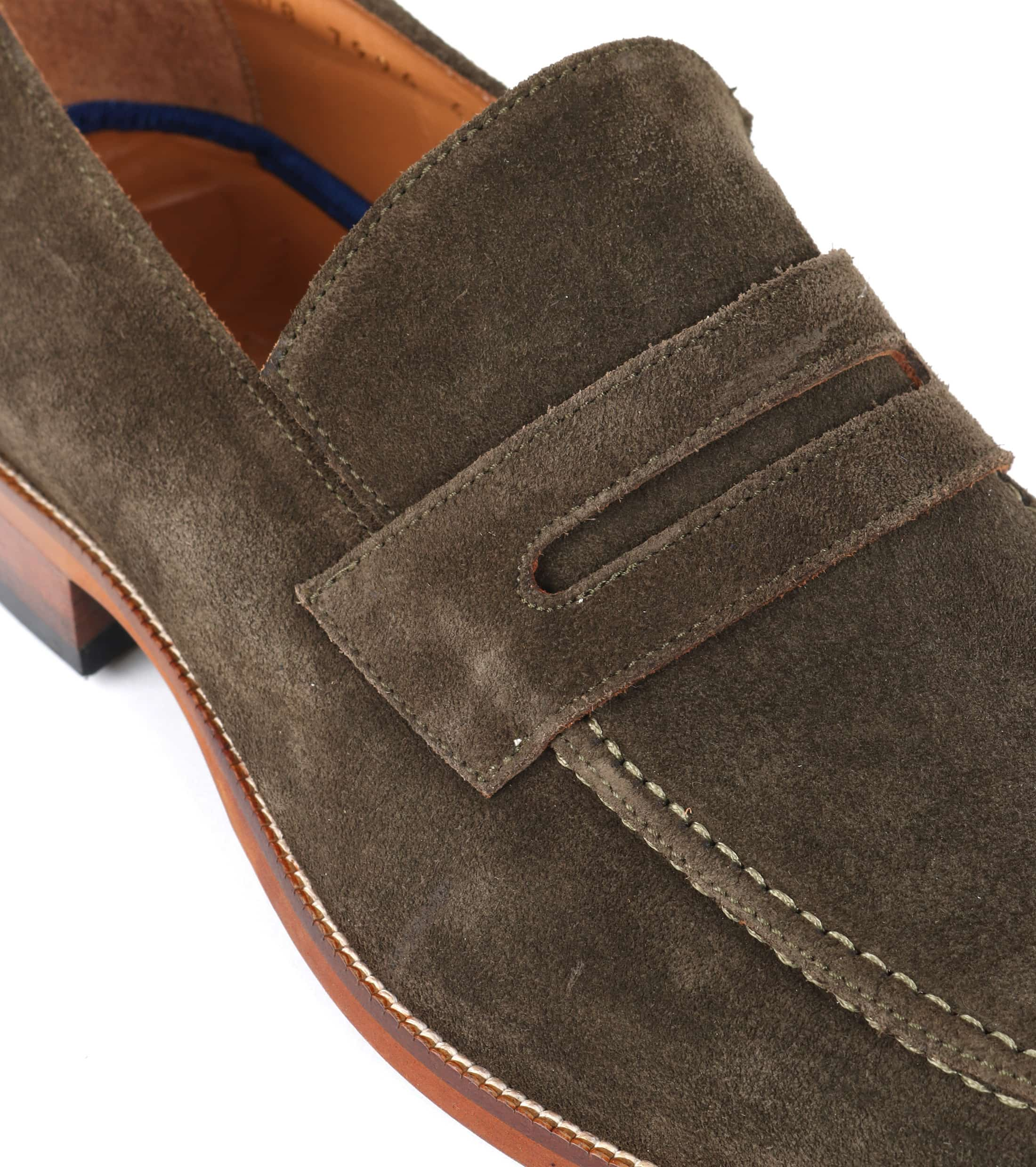 Suitable Loafer Suede Groen foto 1