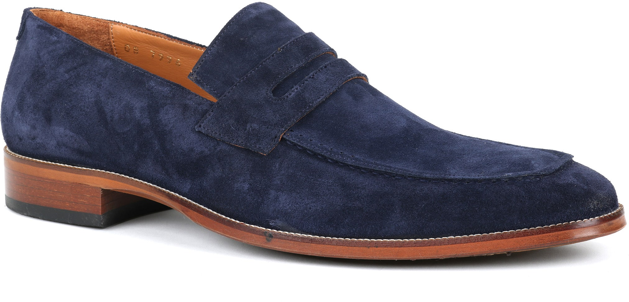 Suitable Loafer Suede Navy foto 0