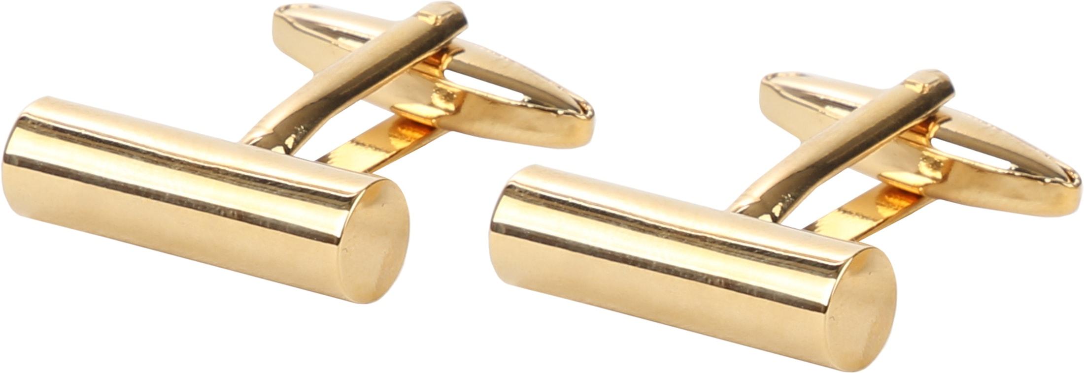 Suitable Manschettenknöpfe Schmales Rohr Gold foto 0