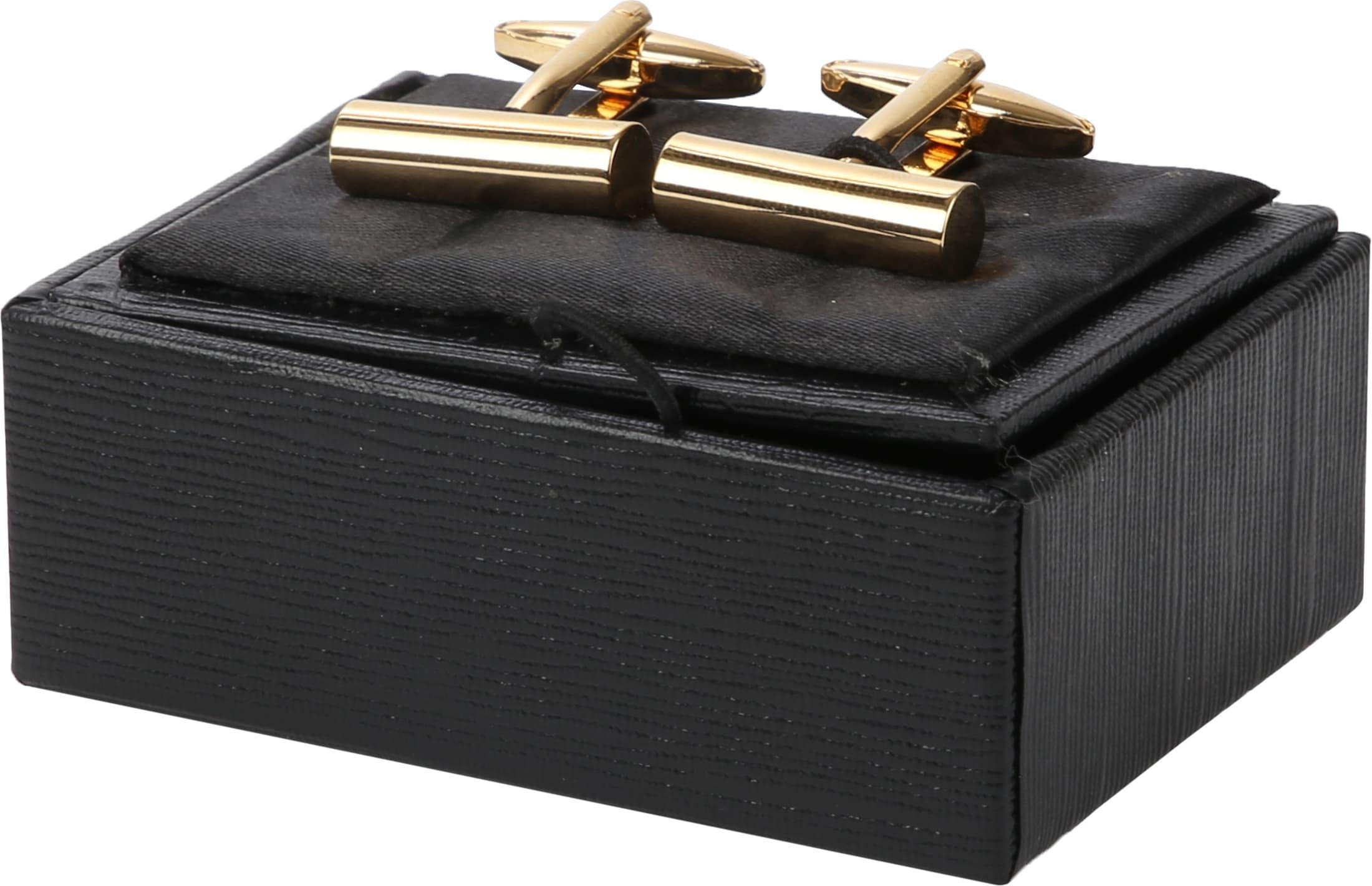 Suitable Manschettenknöpfe Schmales Rohr Gold foto 1