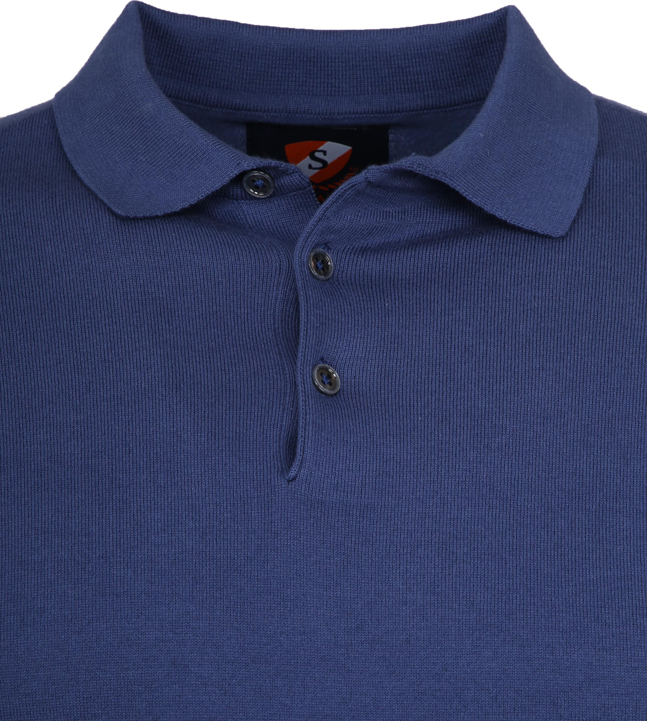 Suitable Mars Poloshirt Stretch Blue foto 1