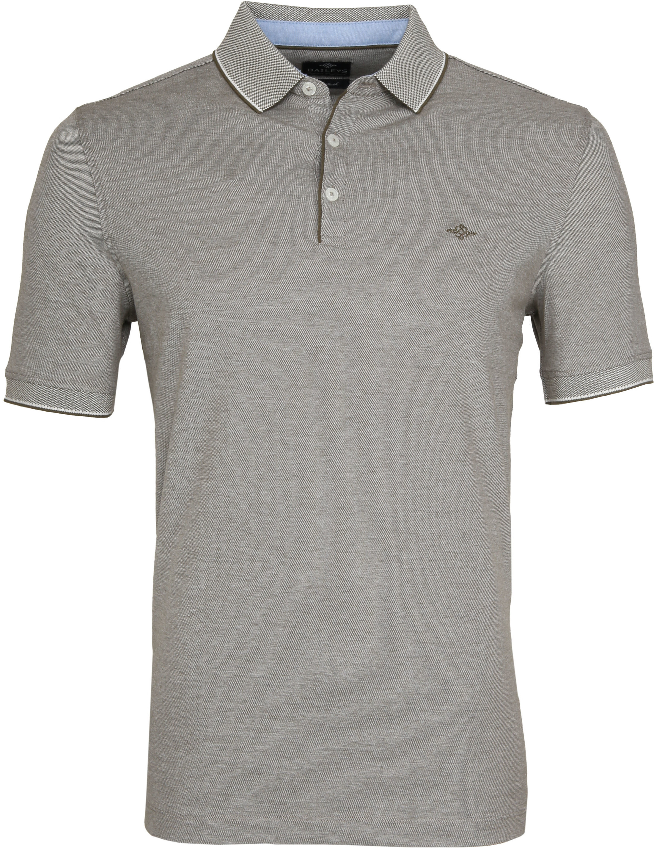Suitable Melange Poloshirt Army foto 0