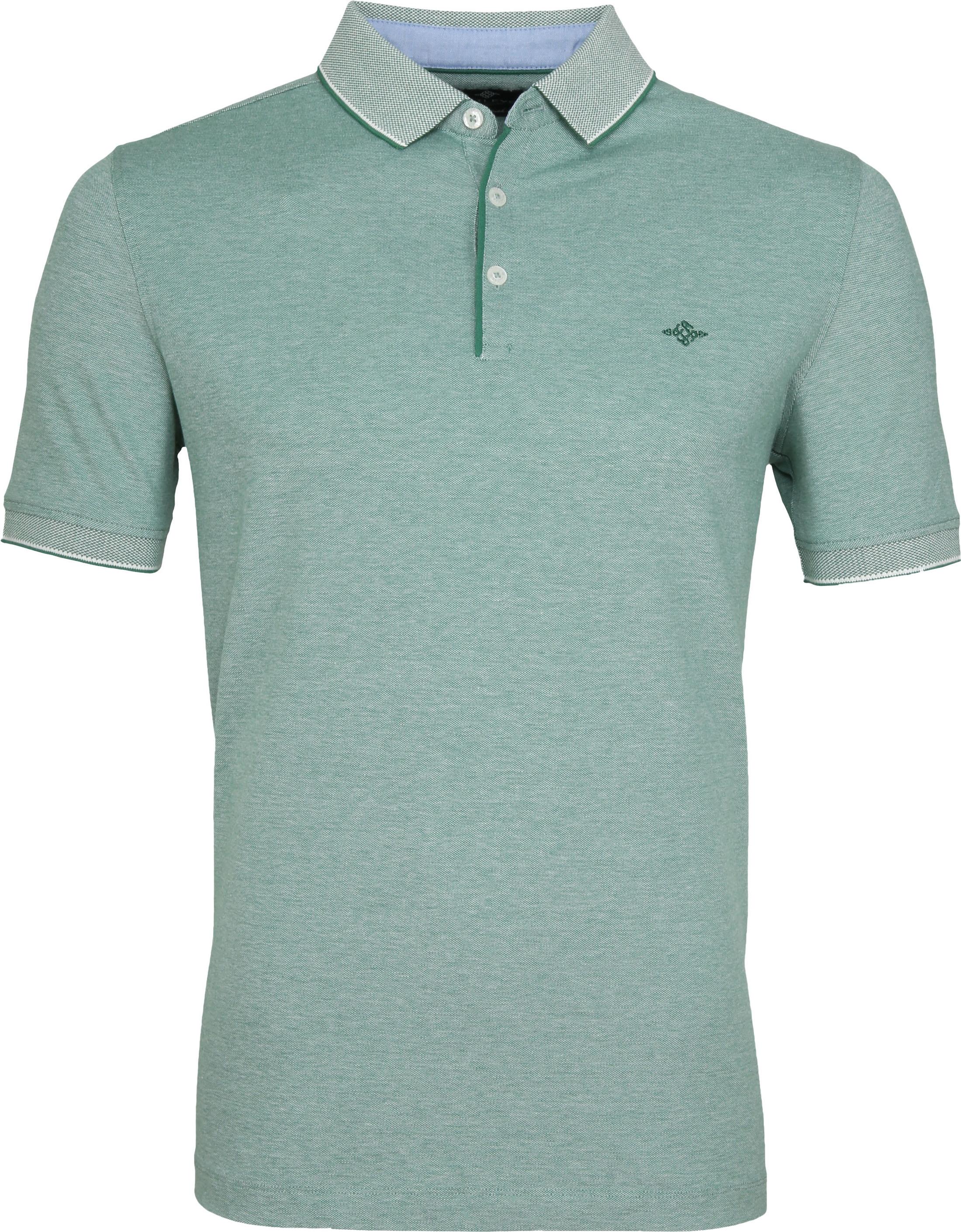 Suitable Melange Poloshirt Green foto 0