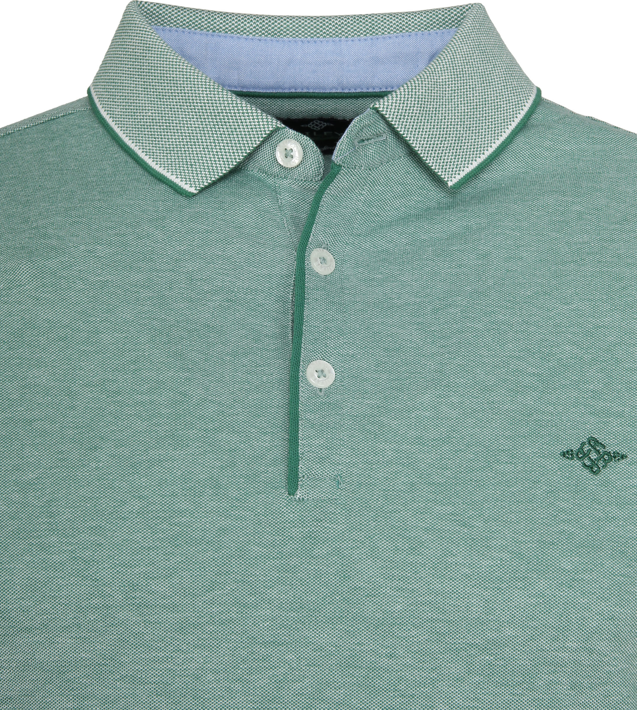 Suitable Melange Poloshirt Green foto 1