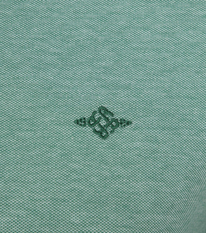 Suitable Melange Poloshirt Green foto 2