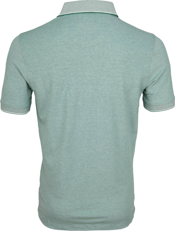Suitable Melange Poloshirt Green foto 3