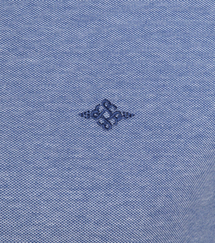 Suitable Melange Poloshirt Indigo foto 2