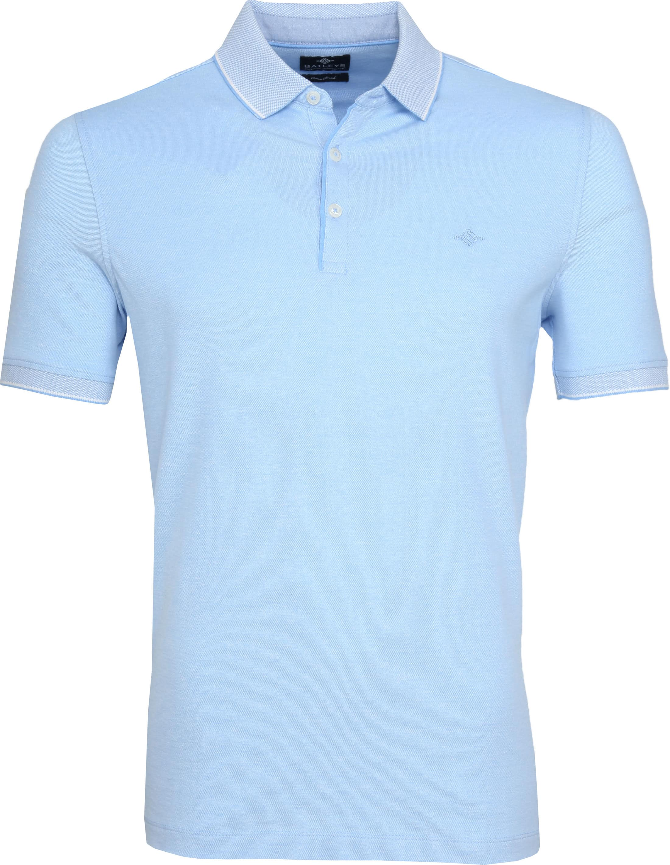 Suitable Melange Poloshirt Light Blue foto 0