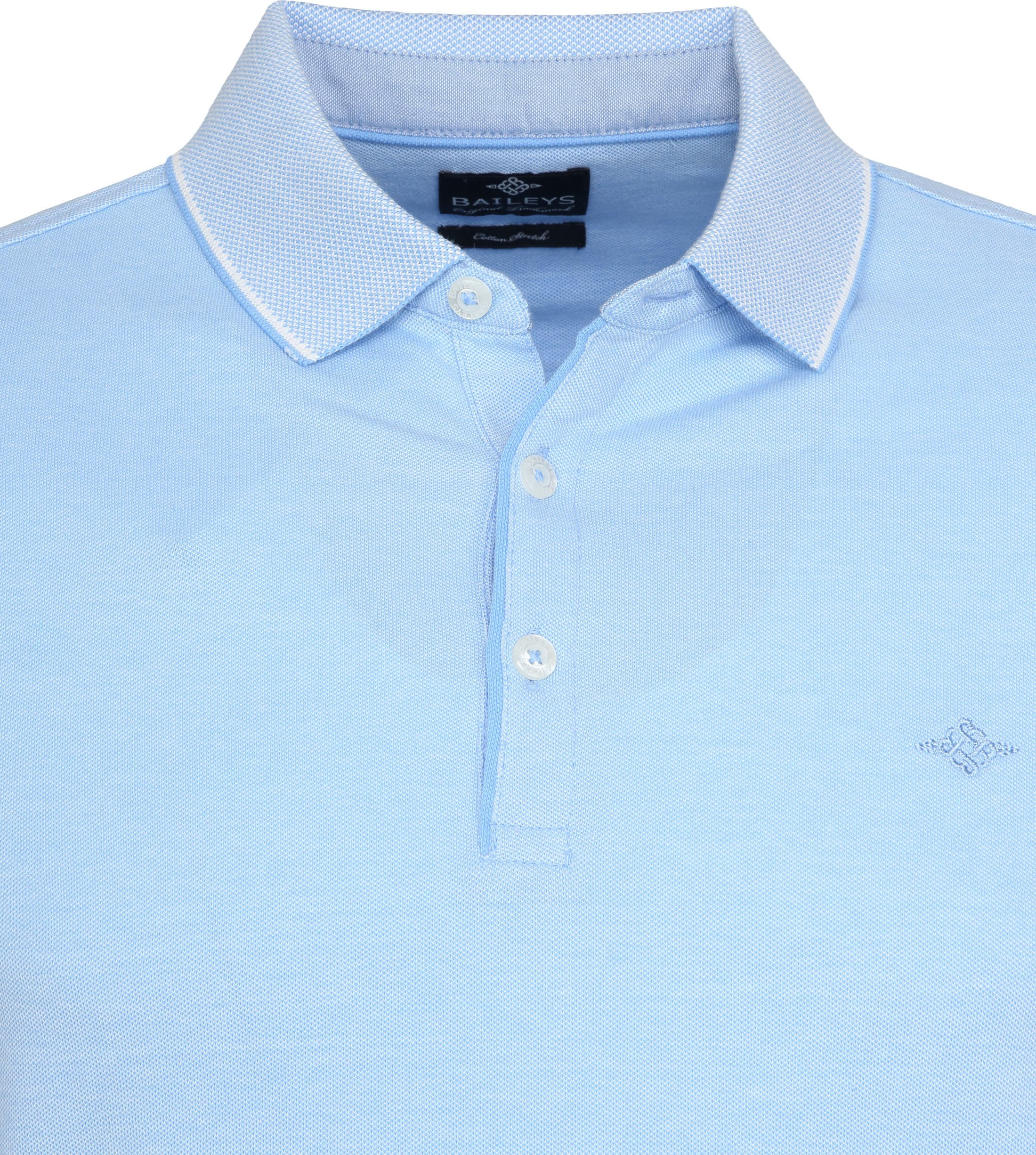 Suitable Melange Poloshirt Light Blue foto 1