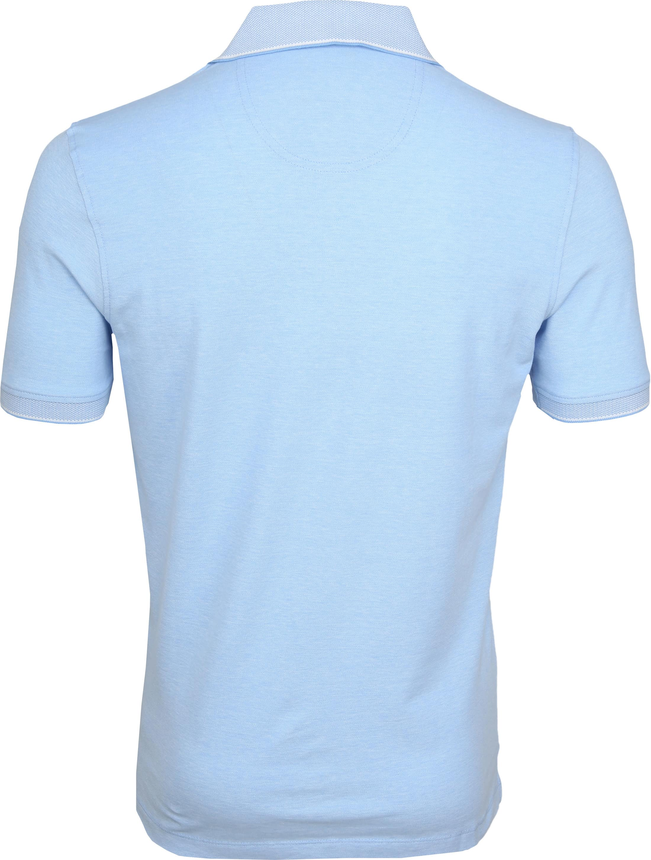 Suitable Melange Poloshirt Light Blue foto 3