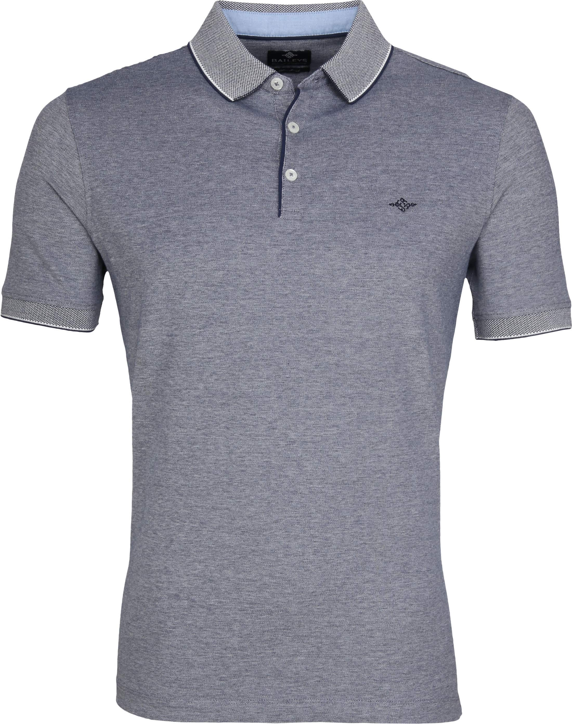 Suitable Melange Poloshirt Navy foto 0