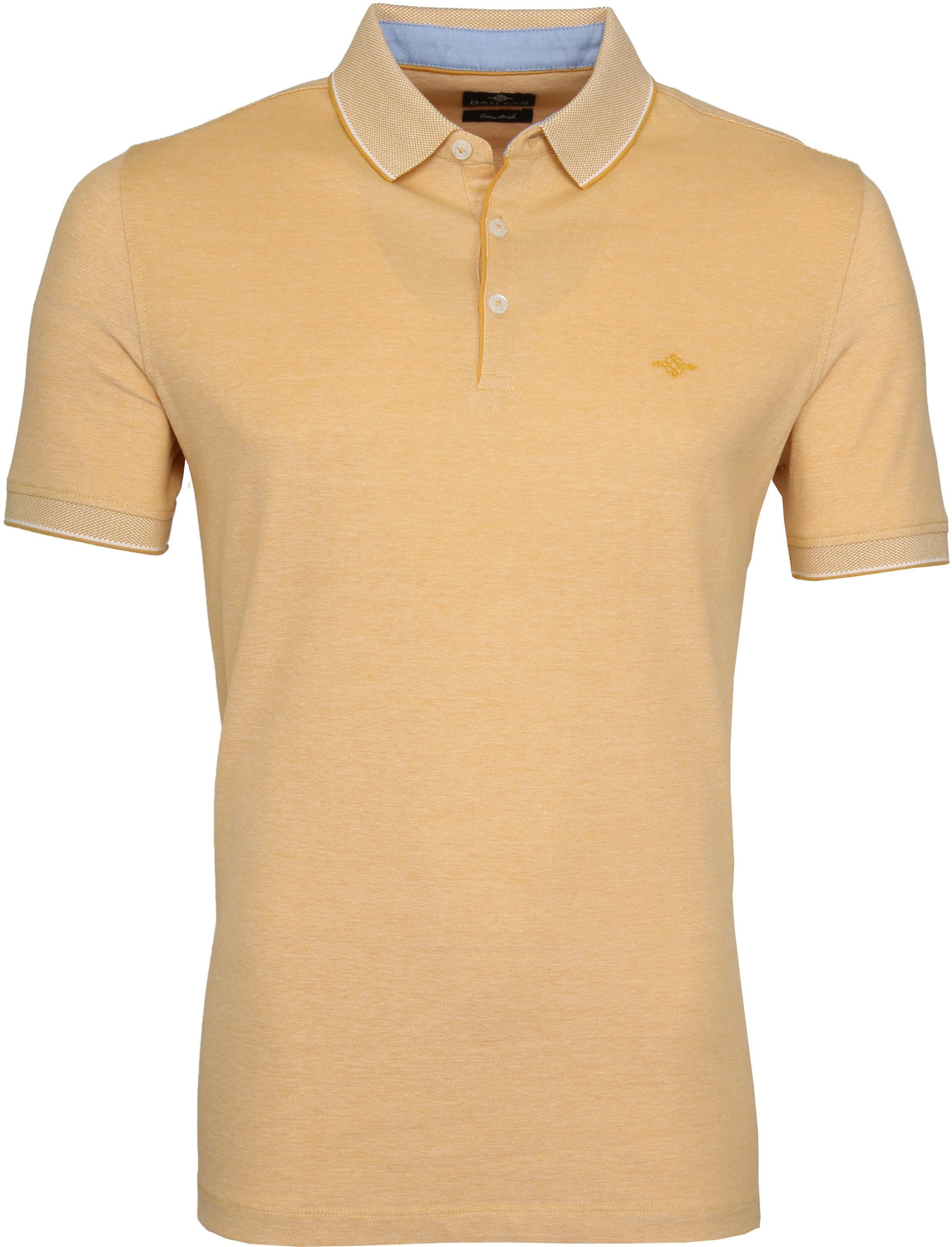 Suitable Melange Poloshirt Yellow foto 0