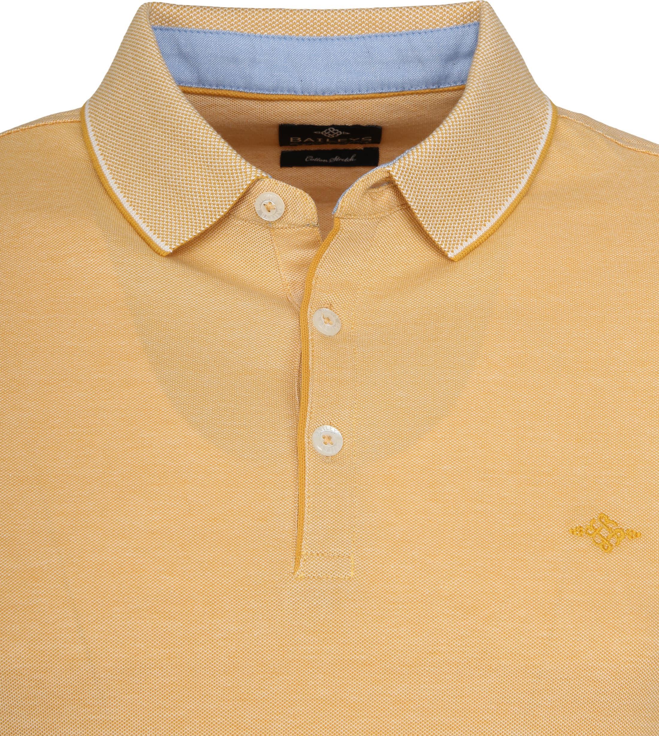 Suitable Melange Poloshirt Yellow foto 1