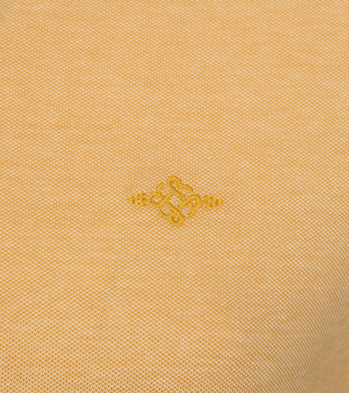 Suitable Melange Poloshirt Yellow foto 2