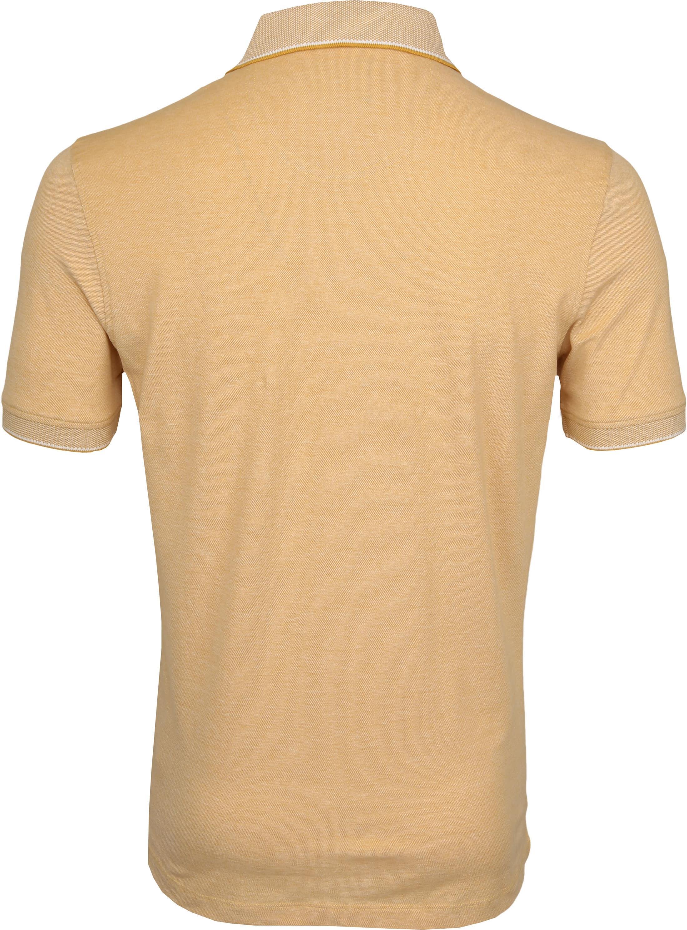 Suitable Melange Poloshirt Yellow foto 3