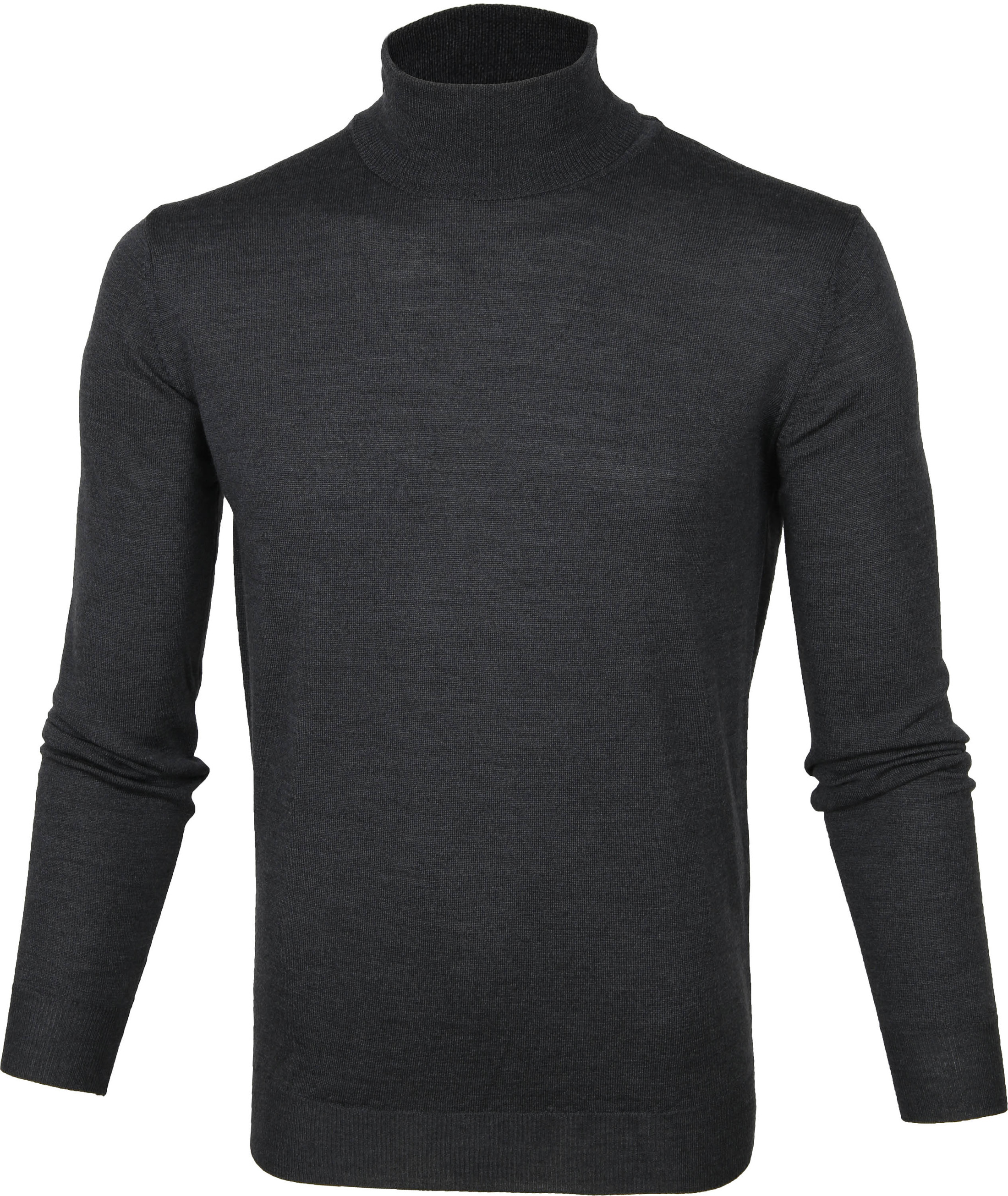 Suitable Merino Coltrui Pull Antraciet