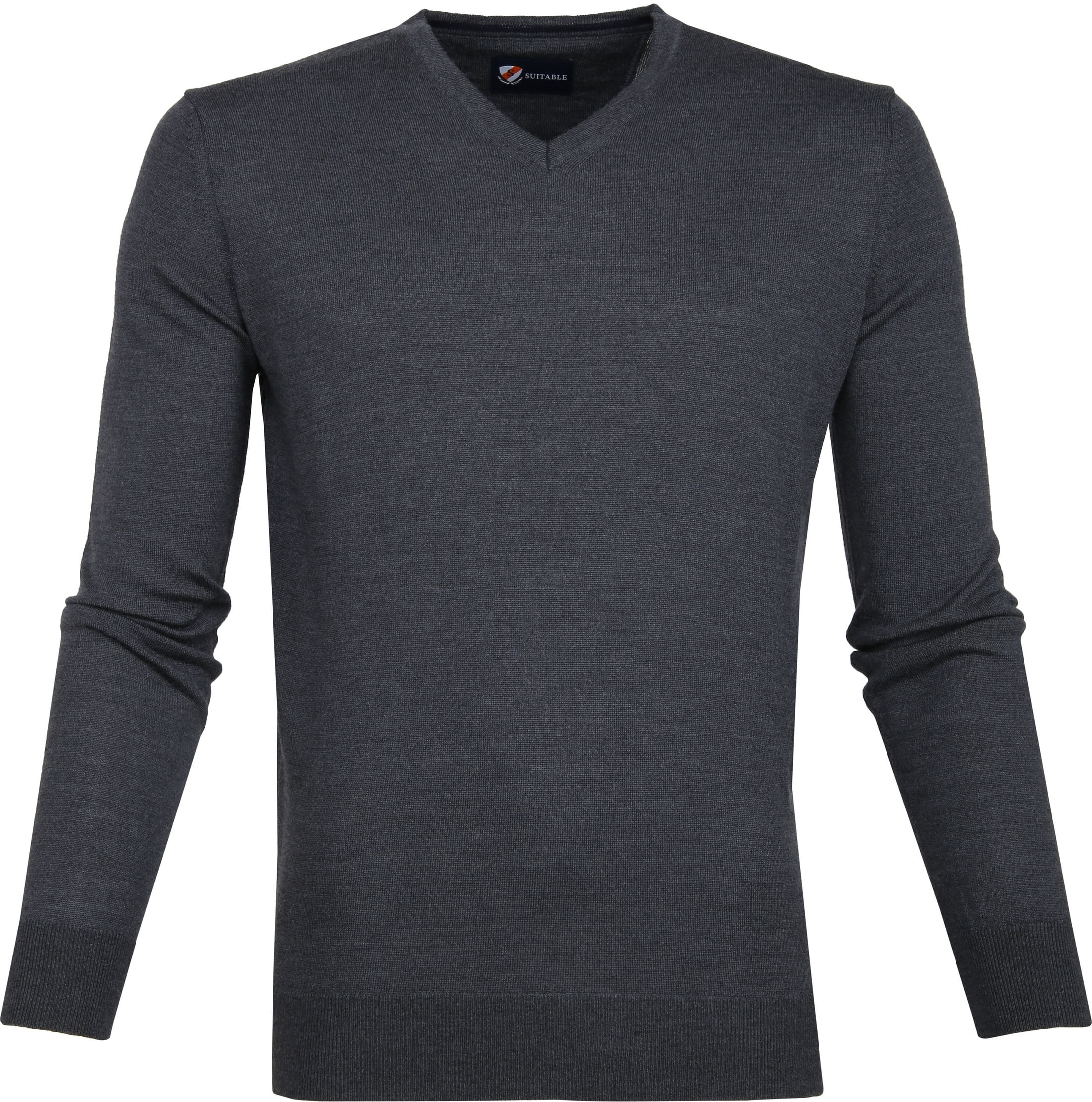 Suitable Merino Pullover Antraciet foto 0