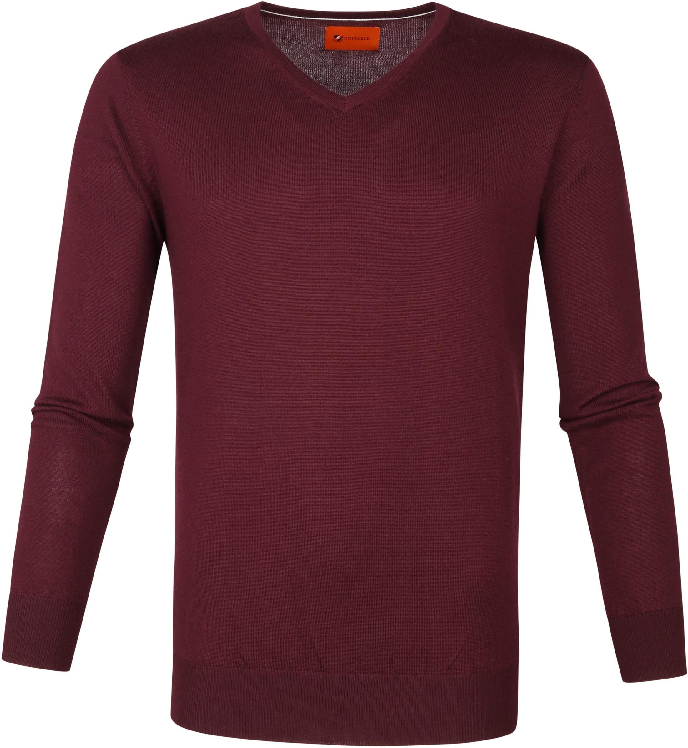 Suitable Merino Pullover Aron Burgundy Red