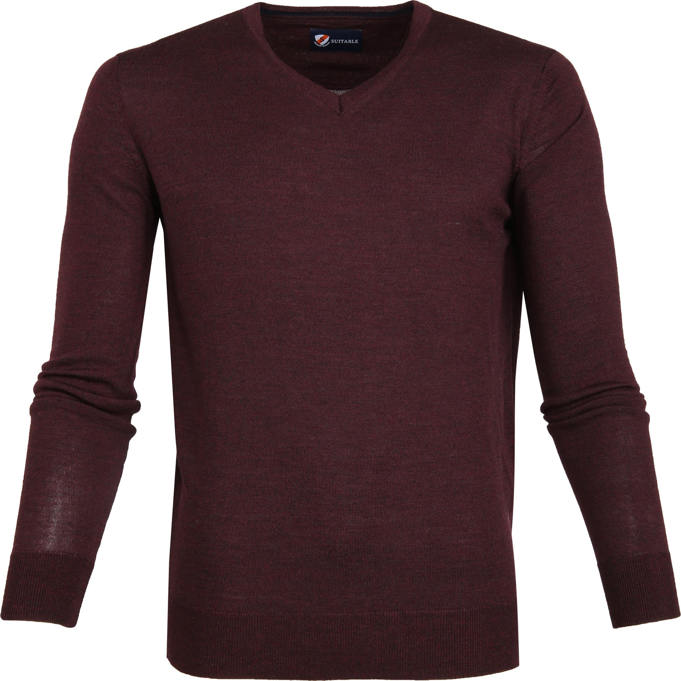 Suitable Merino Pullover Bordeaux foto 0