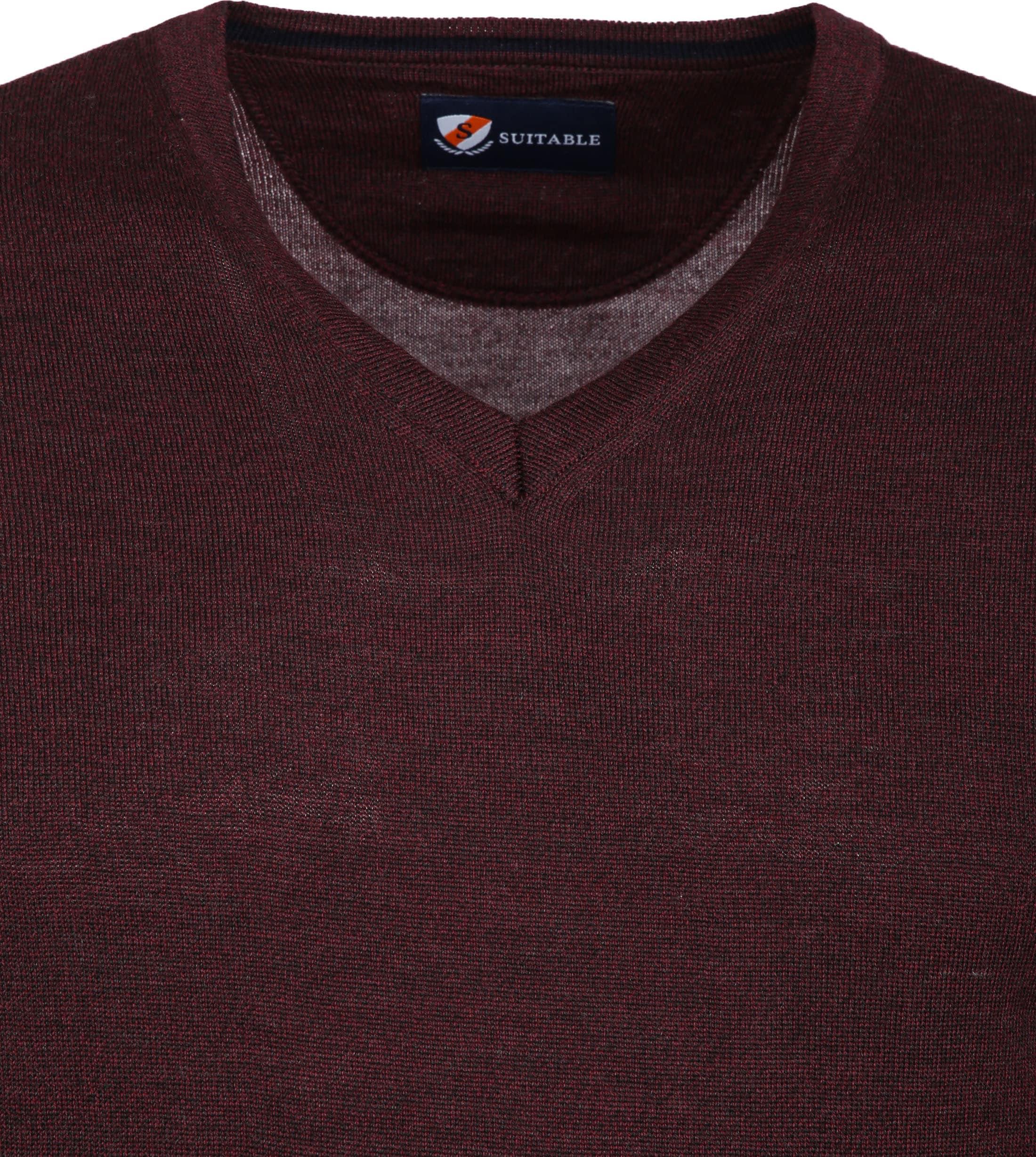 Suitable Merino Pullover Bordeaux foto 1