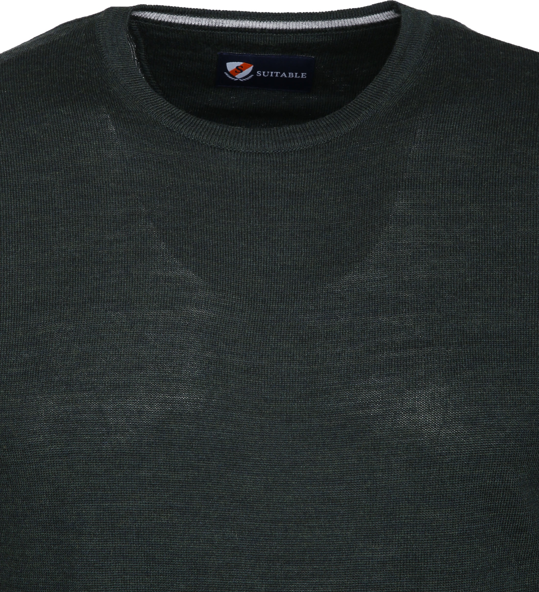 Suitable Merino Pullover R-Neck Dark Green foto 1