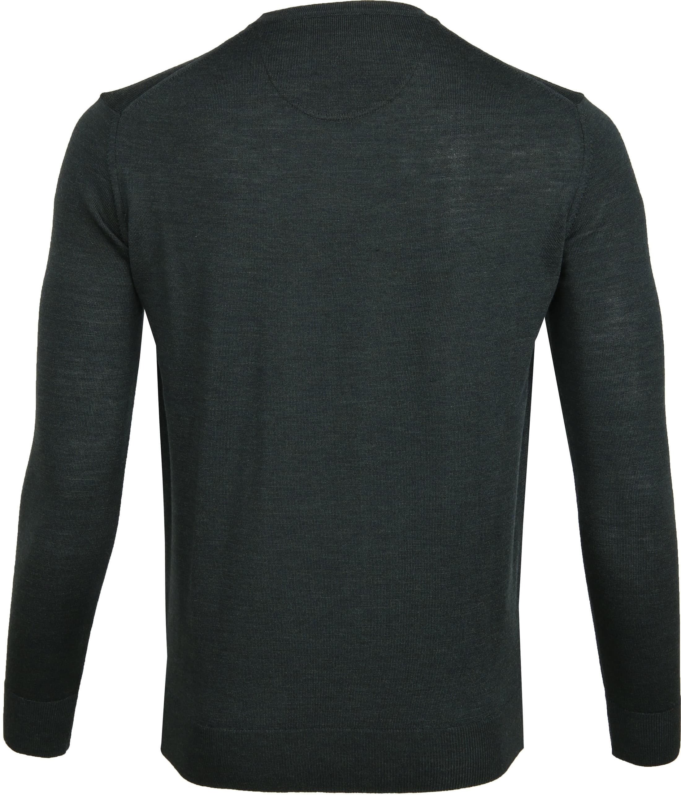 Suitable Merino Pullover R-Neck Dark Green foto 3