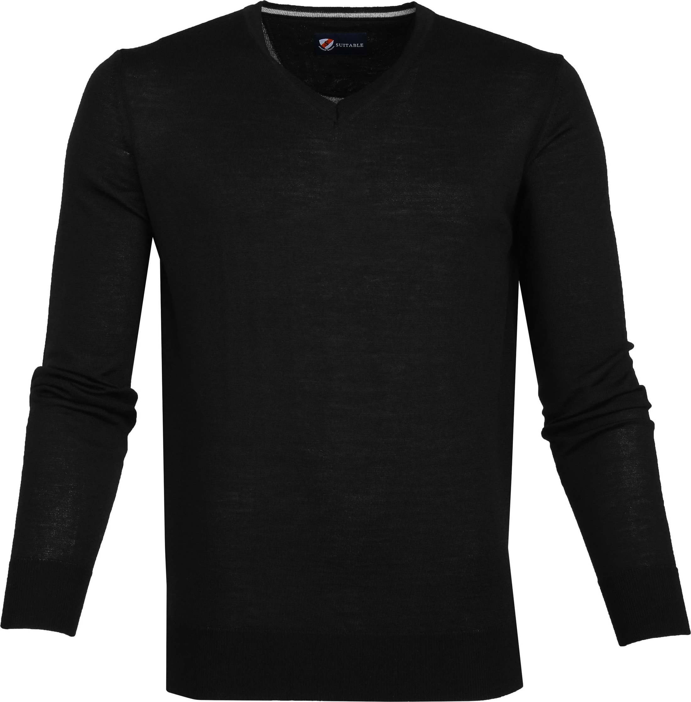 Suitable Merino Pullover Zwart foto 0