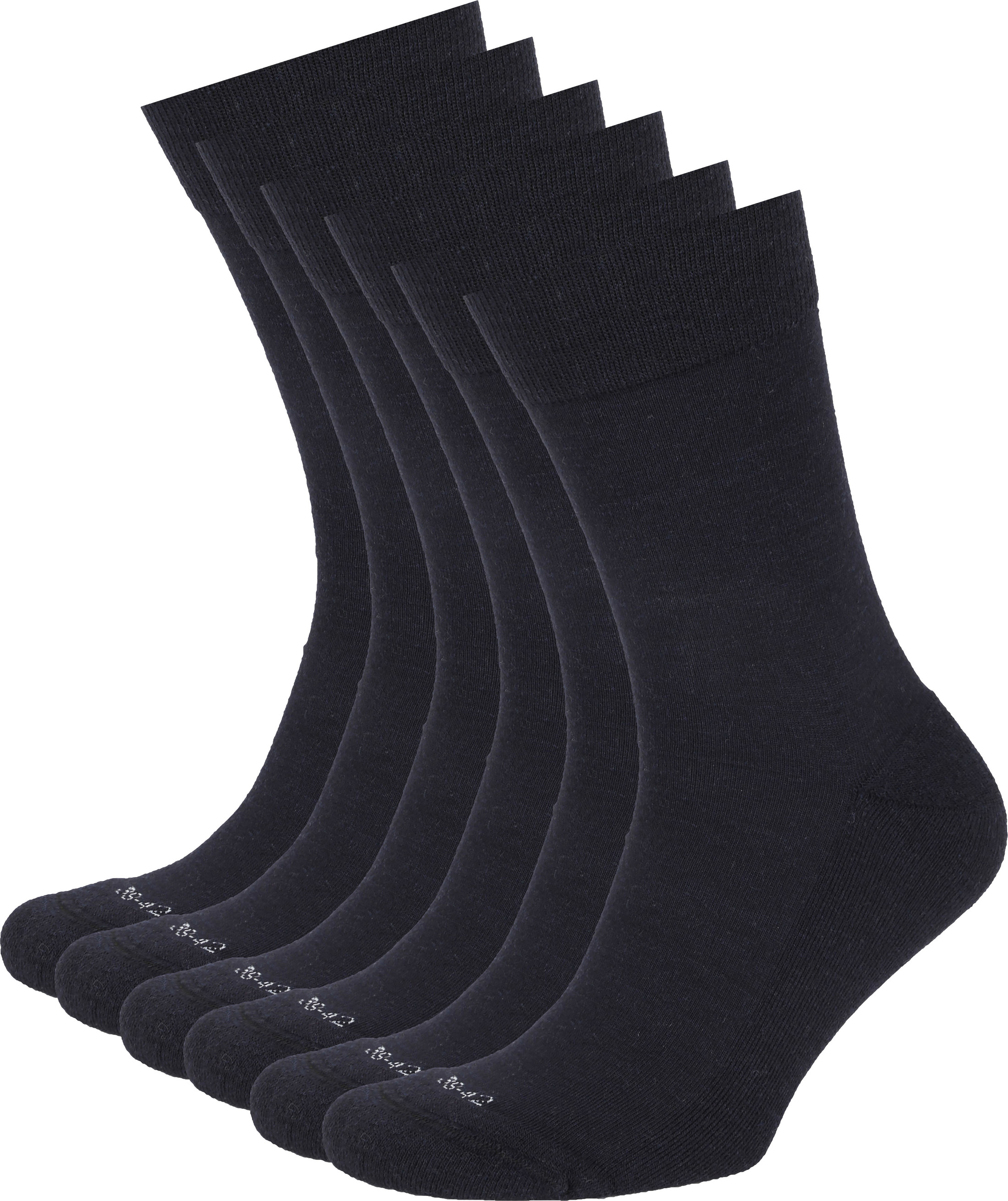 Suitable Merino Socks Navy 6-Pack