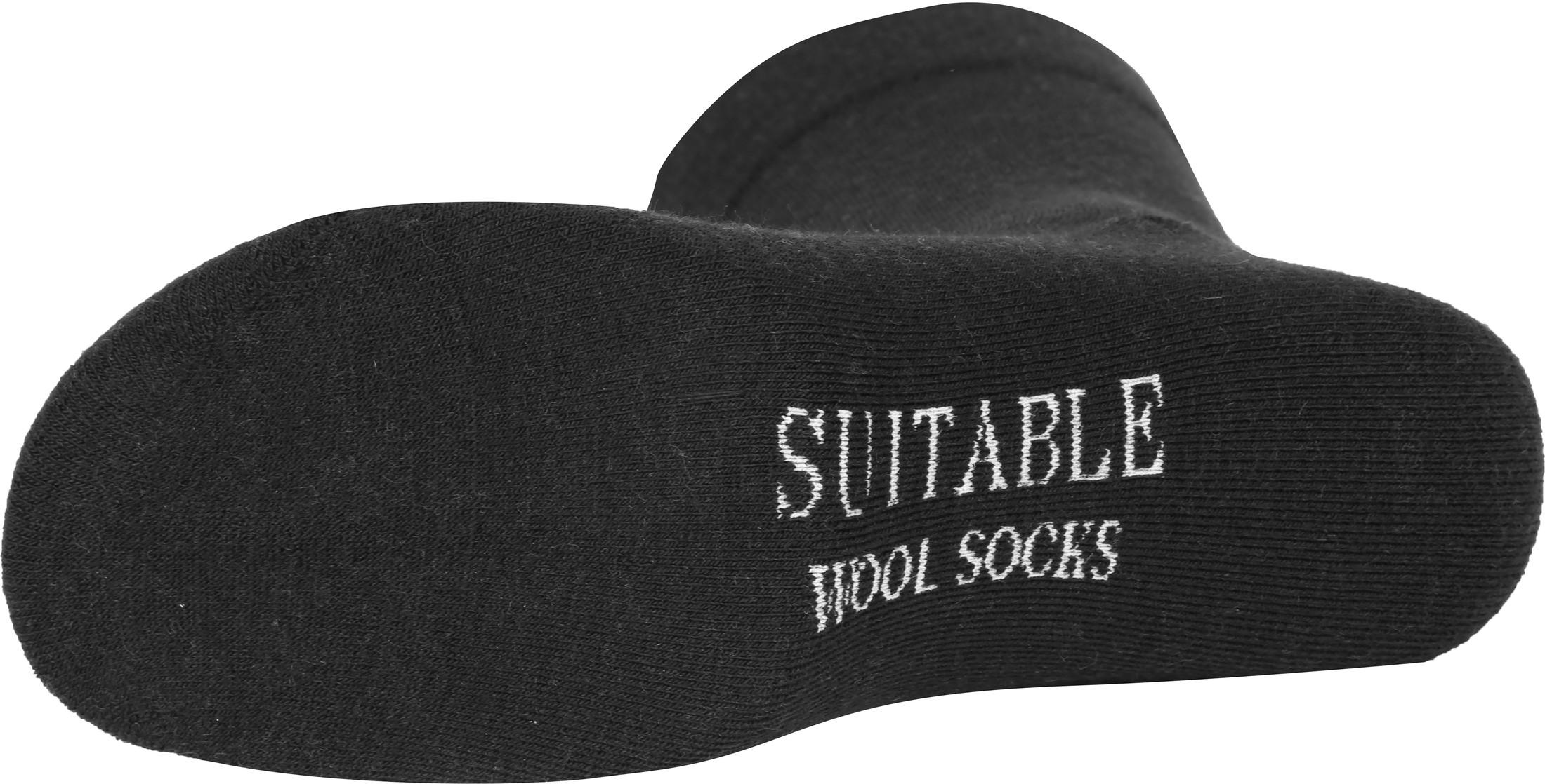 Suitable Merino Sokken Zwart 2-Pack