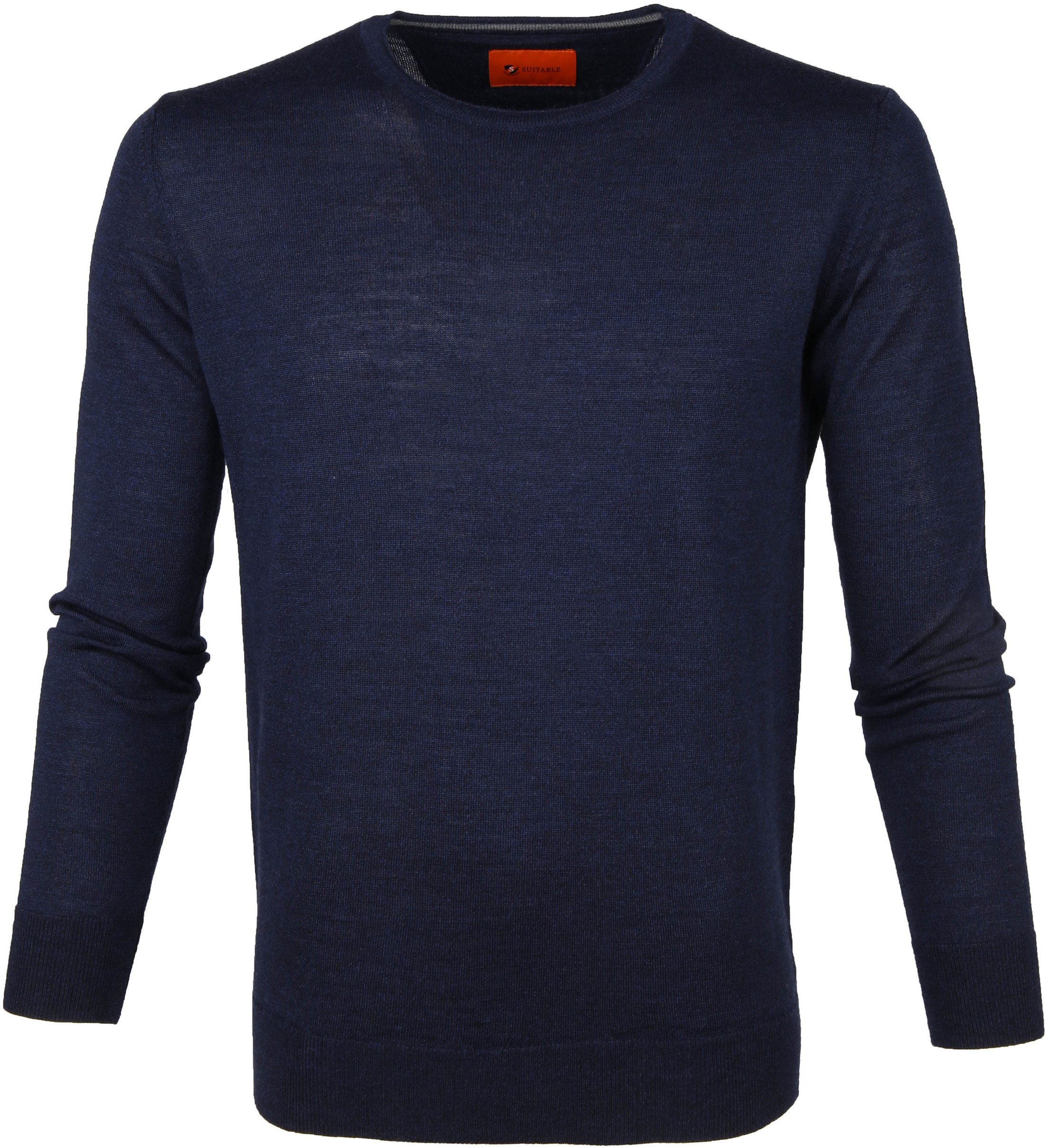 Suitable Merino Trui O-neck Navy